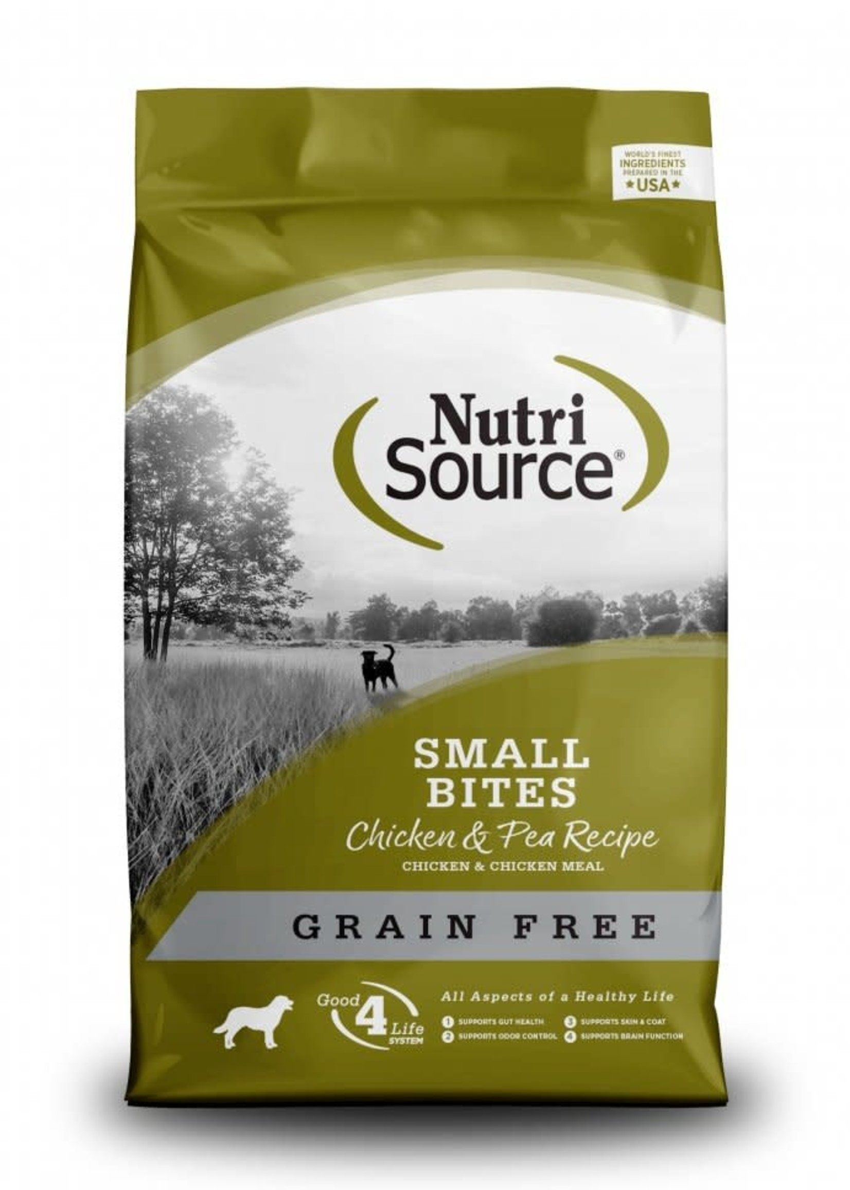 Nutrisource Nutrisource Grain-Free Chicken & Pea Small Bites Dry Dog Food 15lbs