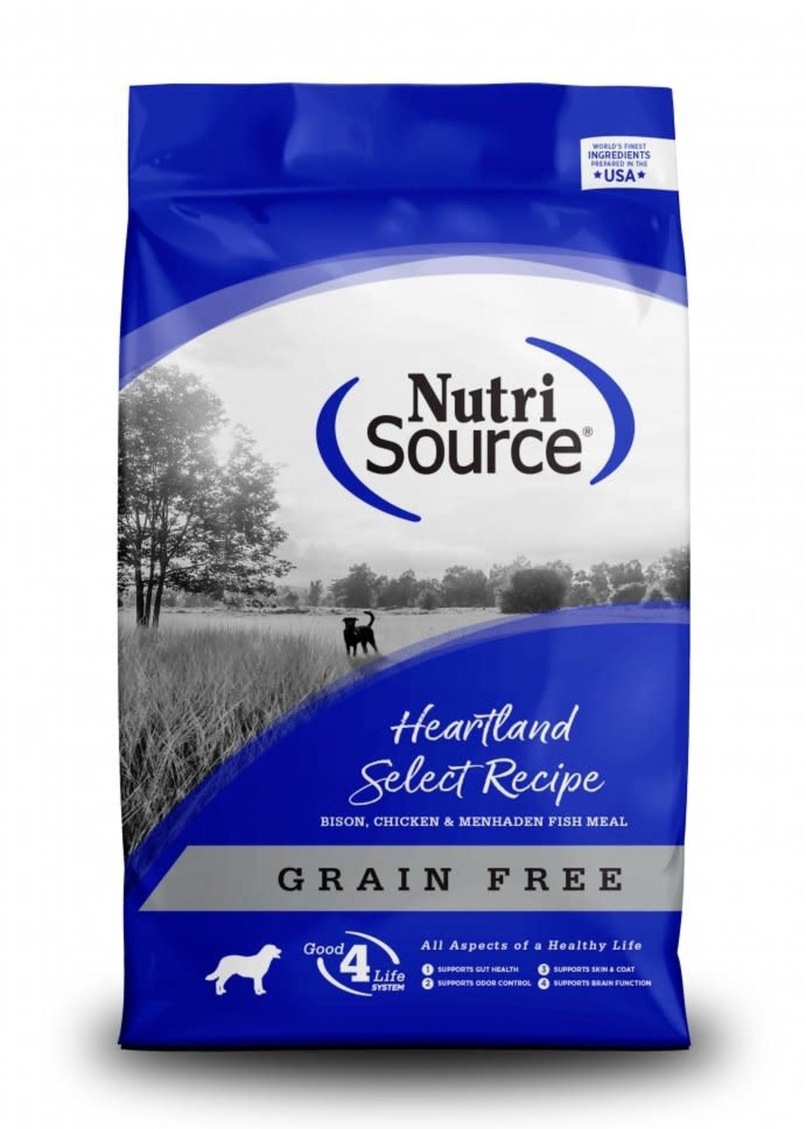 Nutrisource Nutrisource Grain-Free Heartland Select Dry Dog Food 30lbs