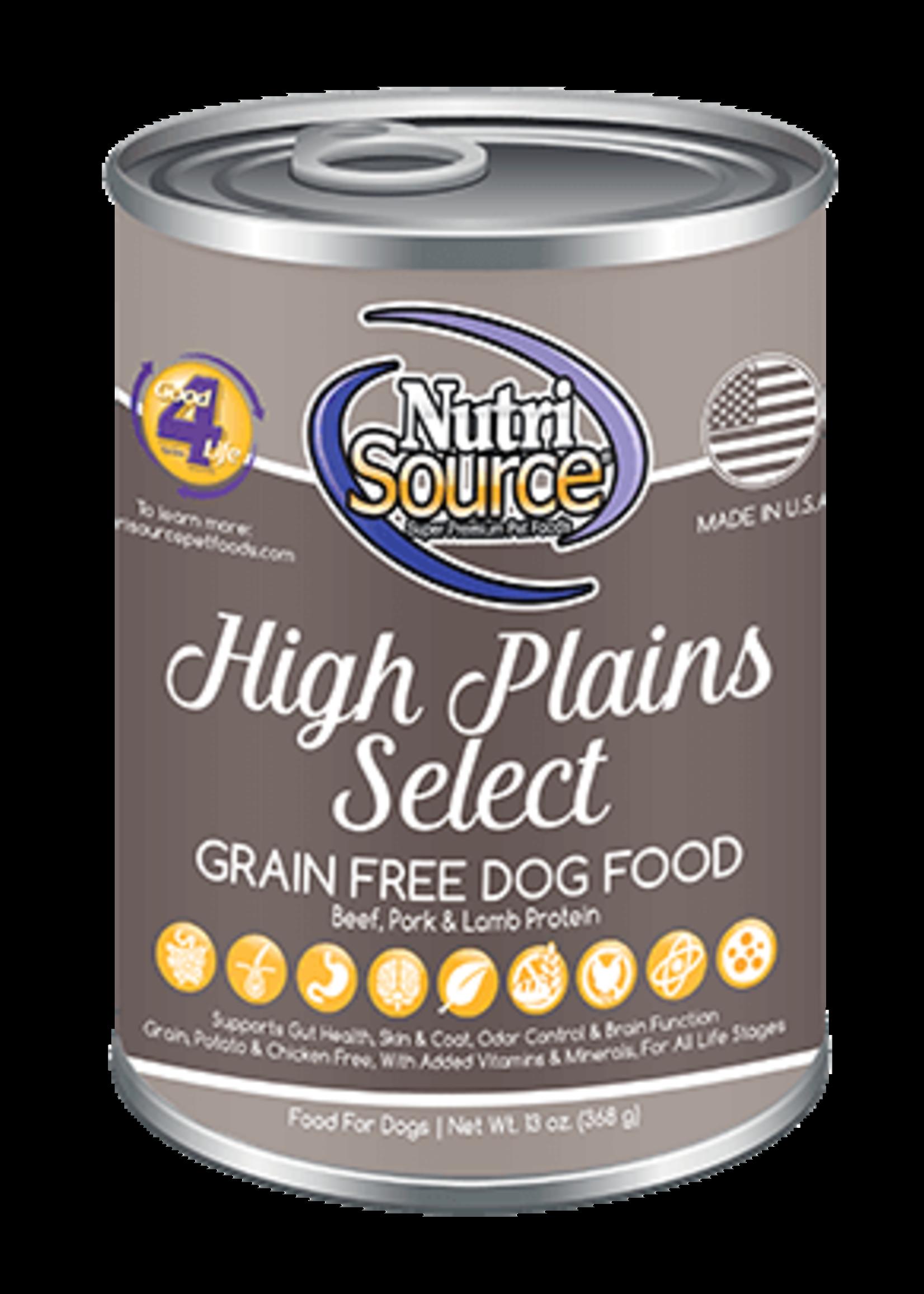 Nutrisource Nutrisource Grain-Free High Plains Select Wet Dog Food 13oz