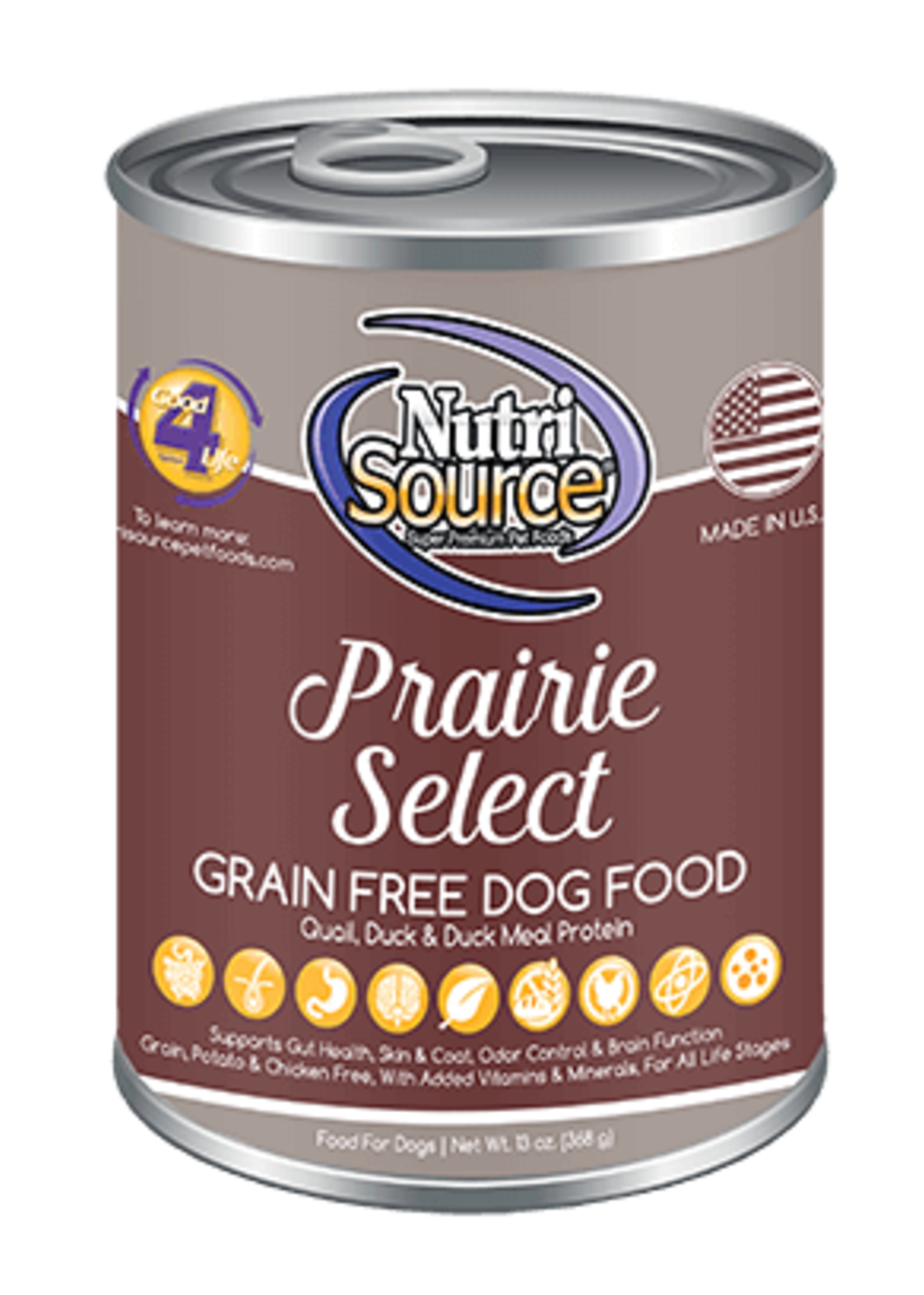Nutrisource Nutrisource Grain-Free Prairie Select Wet Dog Food 13oz