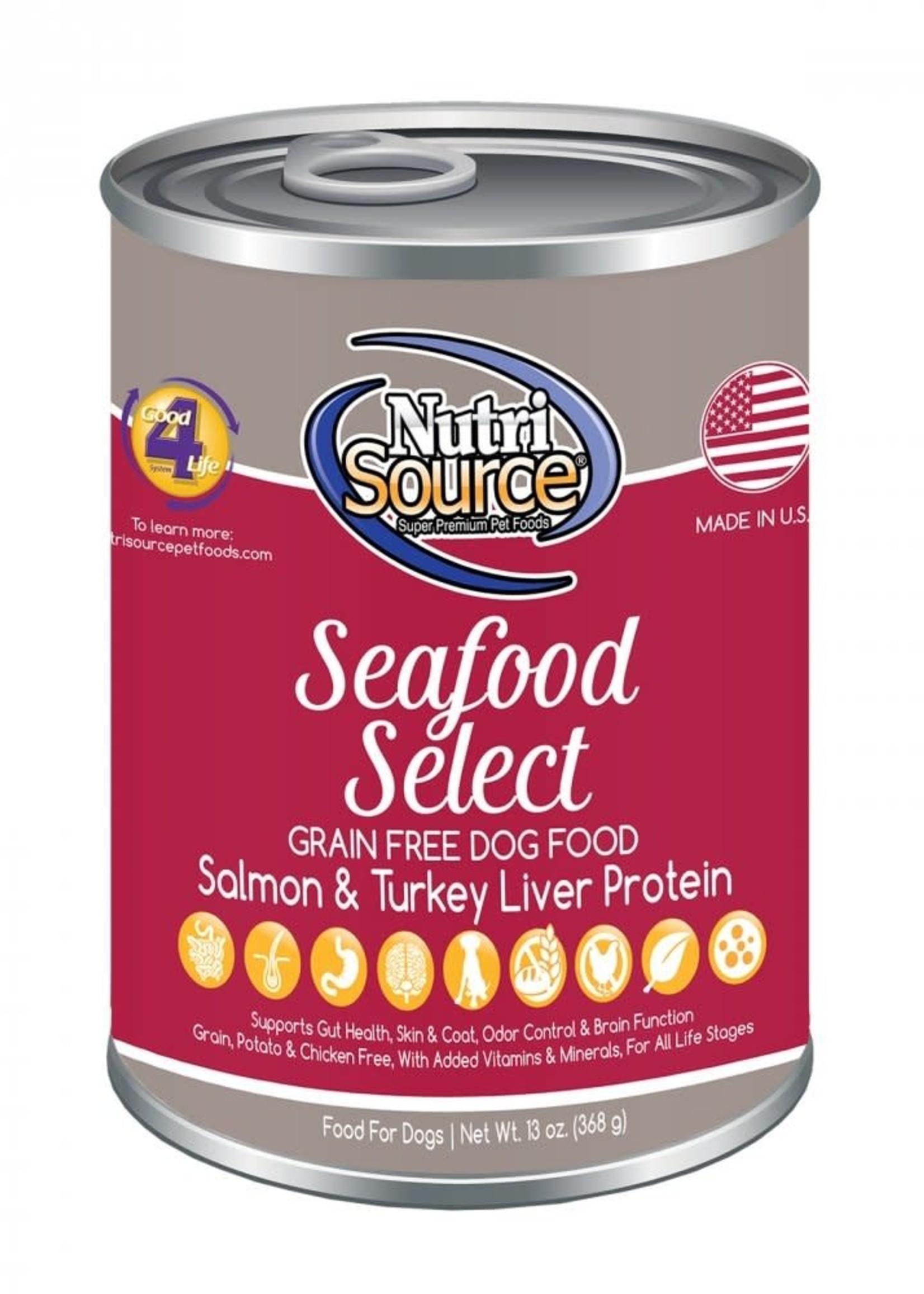 Nutrisource Nutrisource Grain-Free Seafood Select Wet Dog Food 13oz