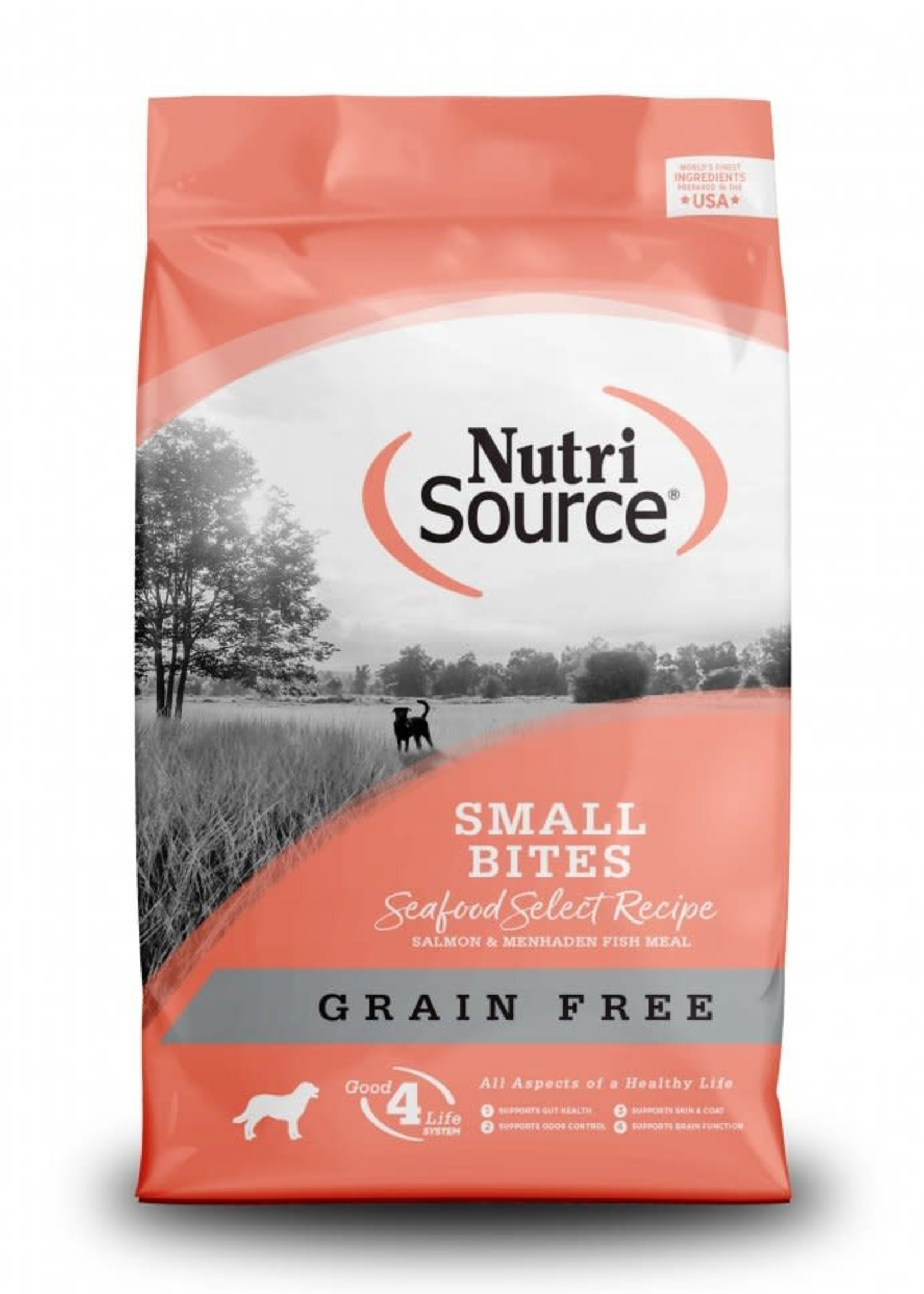 Nutrisource Nutrisource Grain-Free Seafood Select Small Bites Dry Dog Food 15lbs