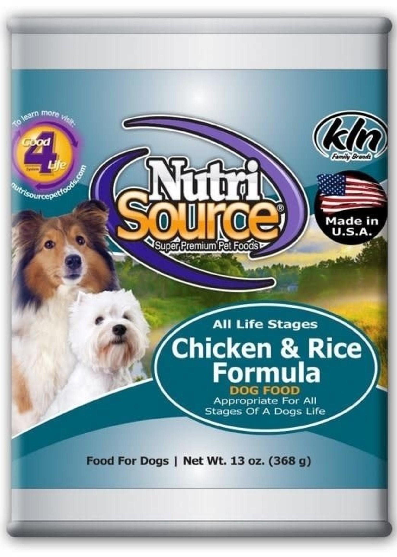 Nutrisource NutriSource Chicken & Rice Wet Dog Food 13 oz