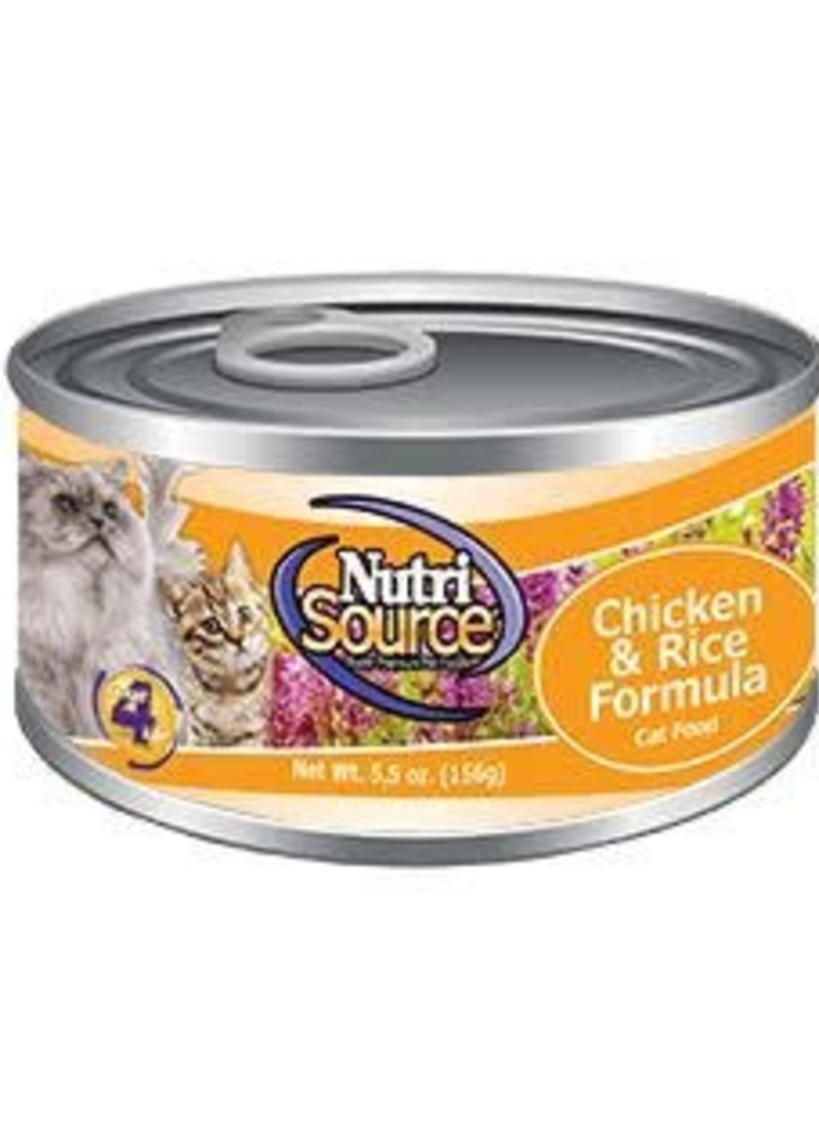 Nutrisource NutriSource Grain Inclusive Chicken & Rice Wet Cat Food 5oz