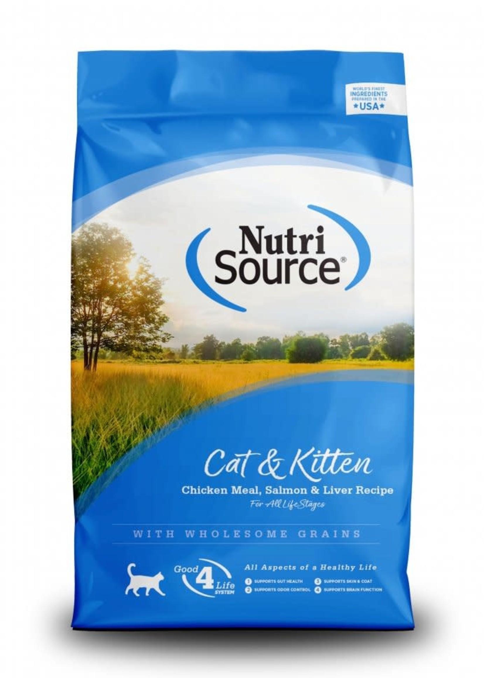 Nutrisource NutriSource Cat & Kitten Chicken, Salmon &  Liver Dry Cat Food 16lbs