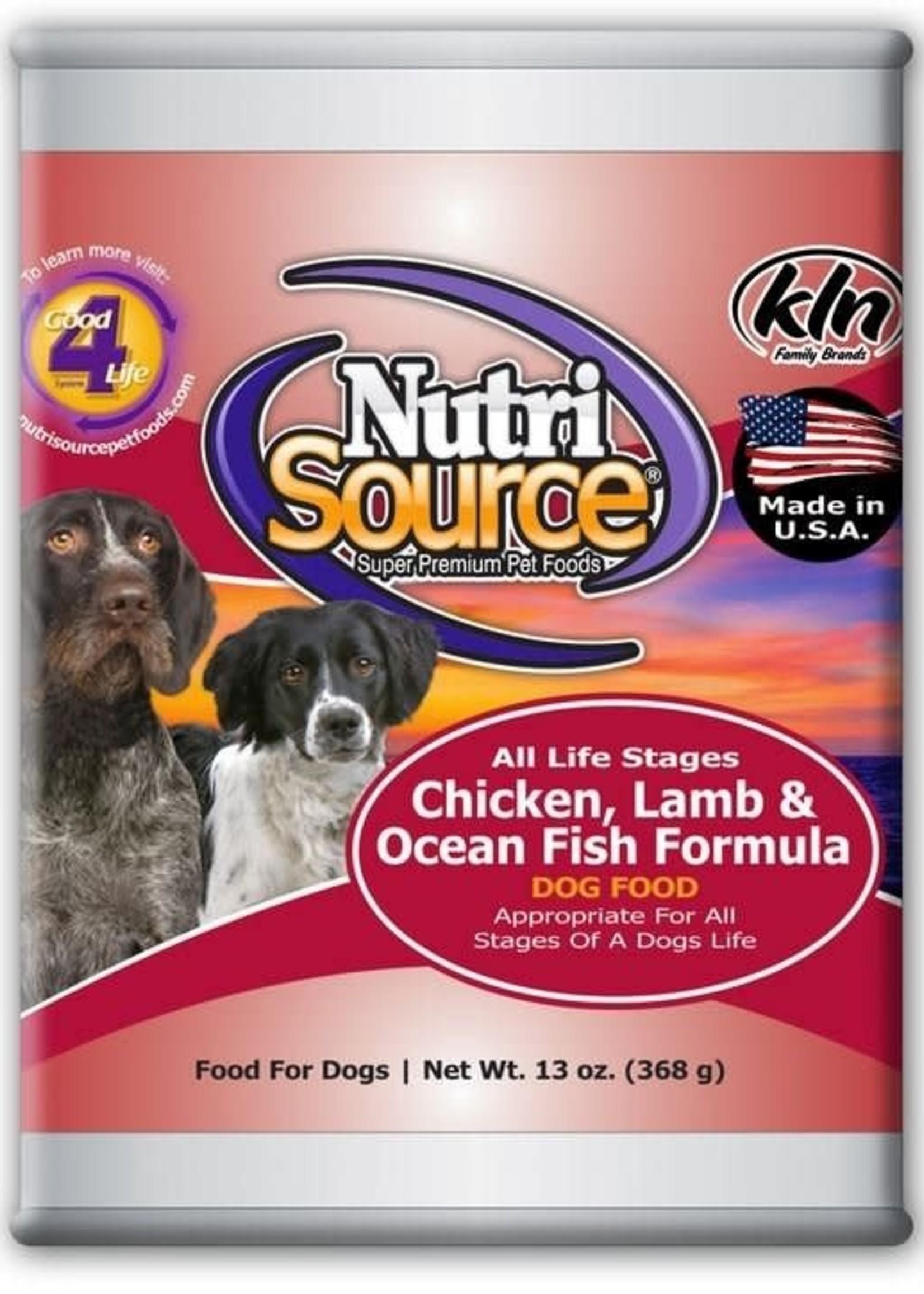 Nutrisource NutriSource Chicken, Lamb & Fish Wet Dog Food 13oz