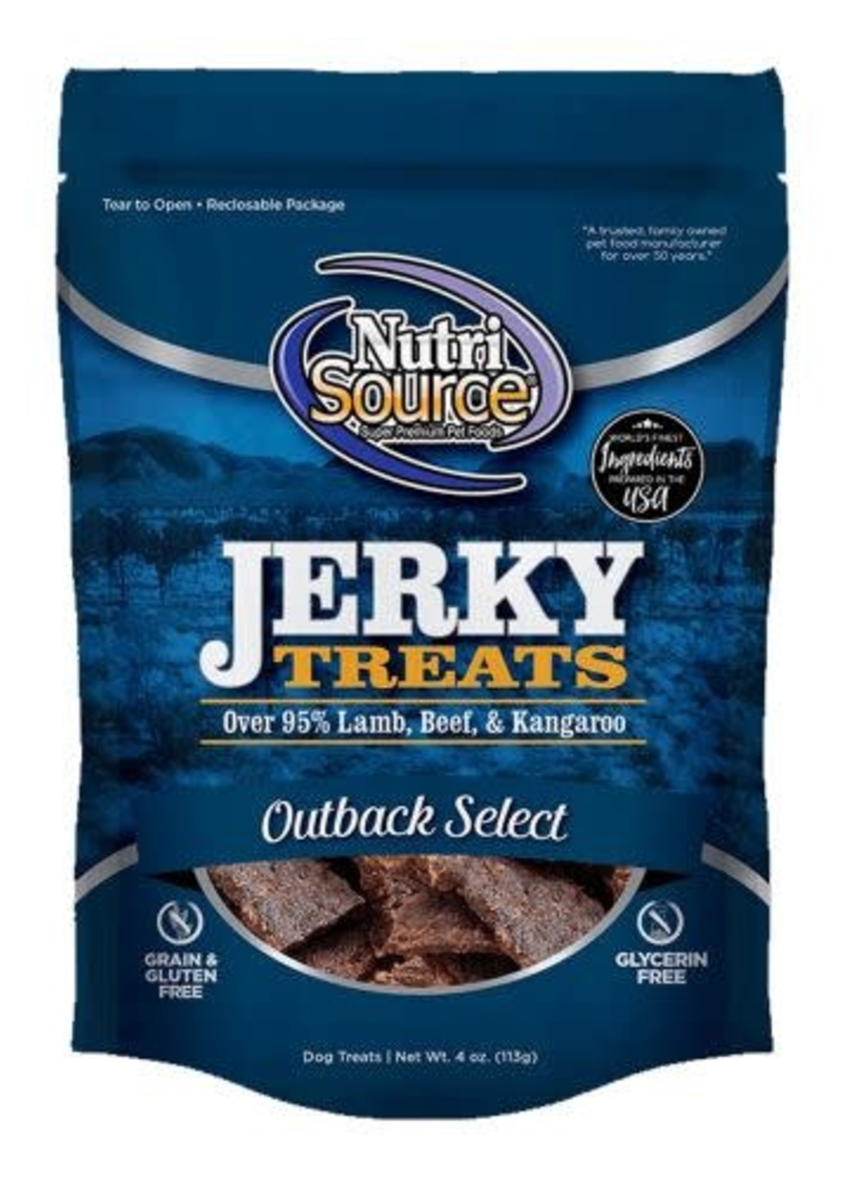 Nutrisource NutriSource Outback Select Jerky 4oz