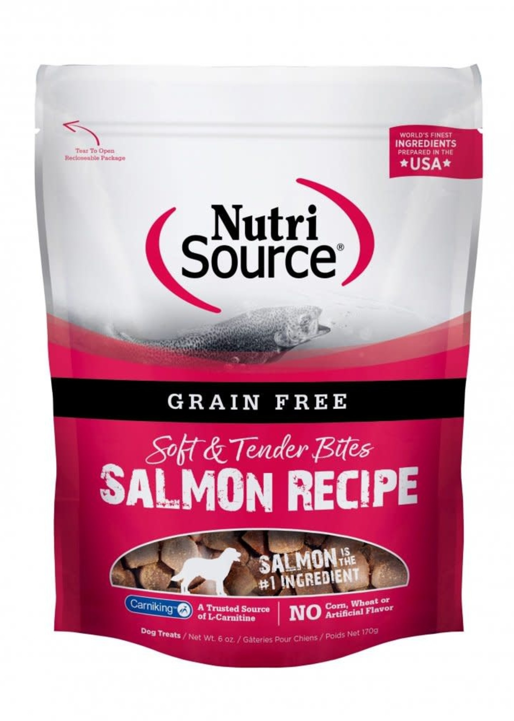 Nutrisource NutriSource Soft & Tender Salmon Treats 14oz