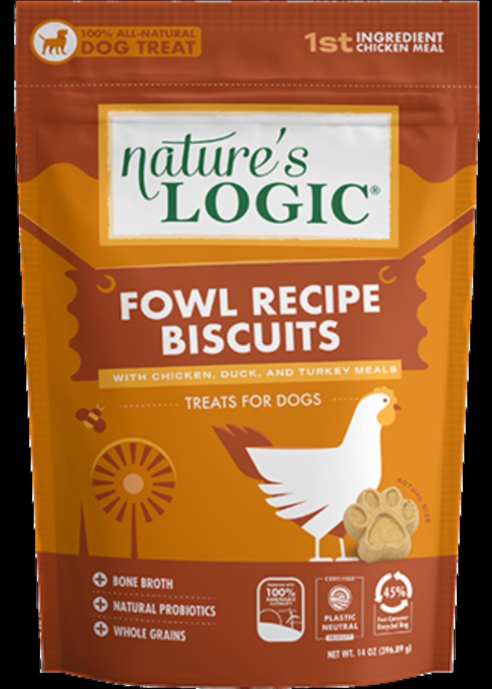 Nature's Logic Nature's Logic Fowl Recipe Biscuit 14oz