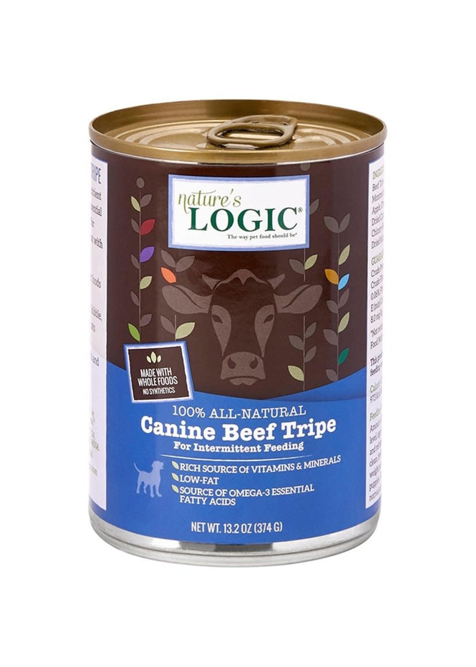 Nature's Logic Nature's Logic Beef Tripe Wet Dog Food 13.2oz Case