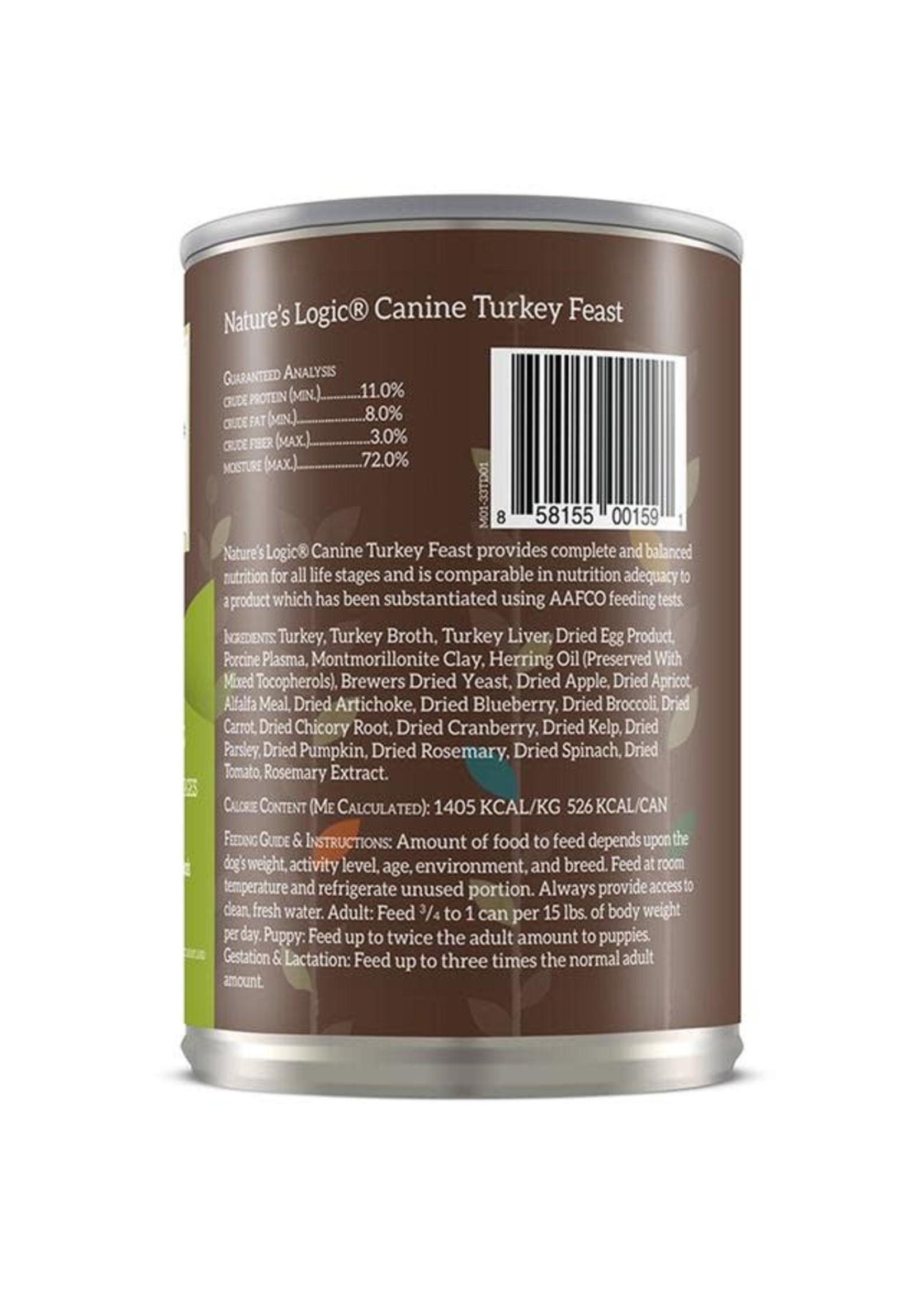 Nature's Logic Nature's Logic Turkey Wet Dog Food 13.2oz Case