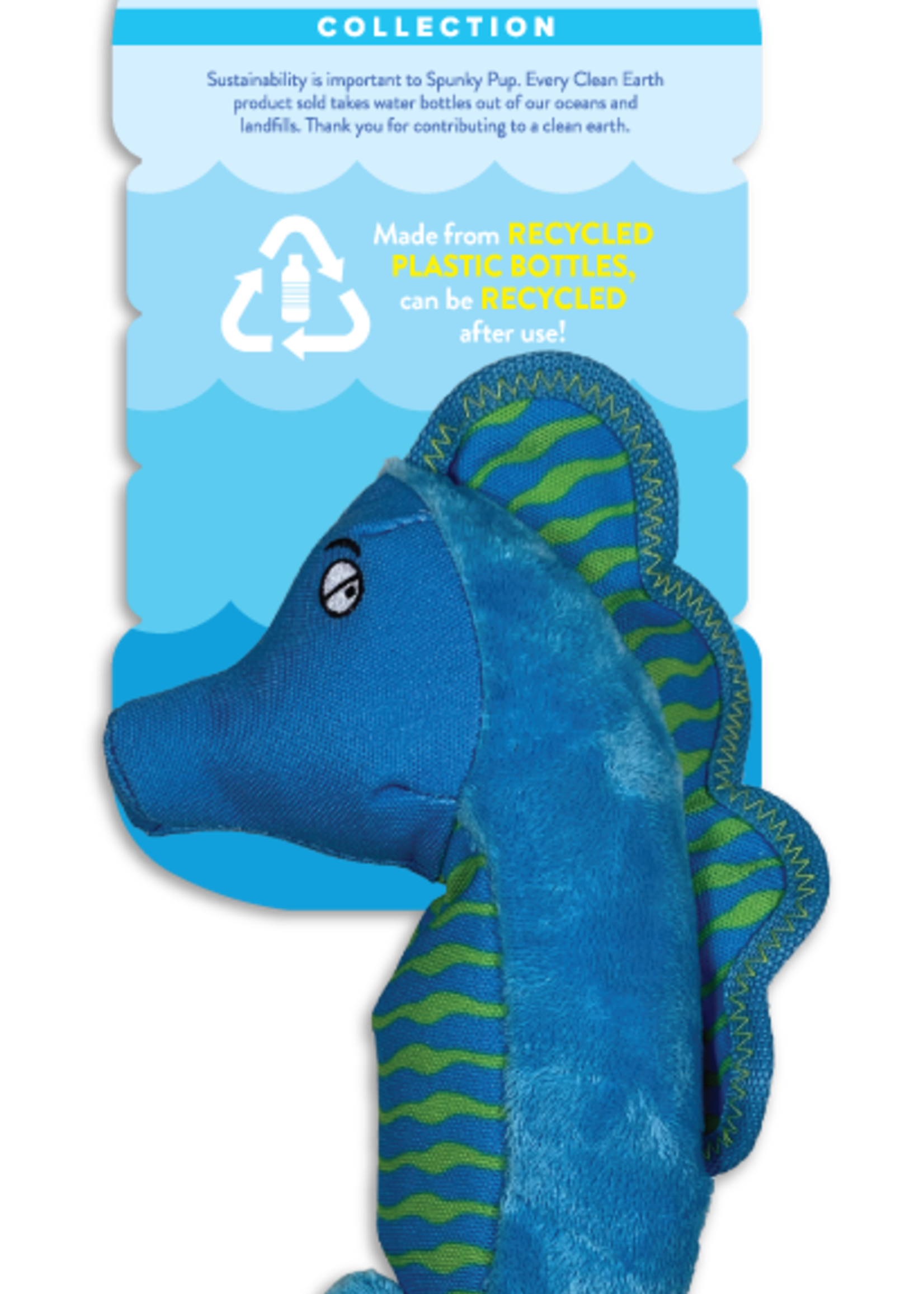 Spunky Pup Spunky Pup Recycled Plush Seahorse Large
