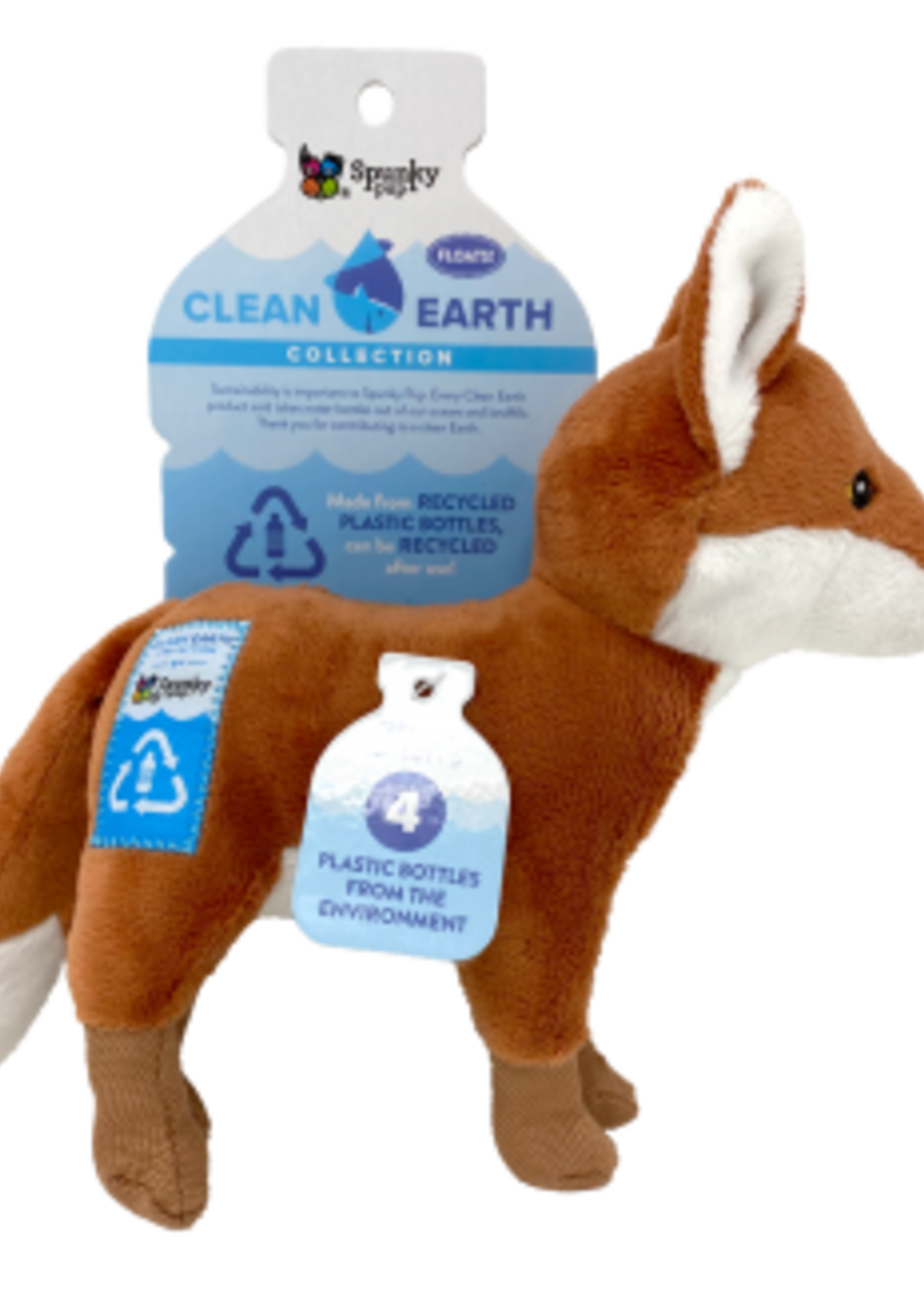 Spunky Pup Spunky Pup Recycled Plush Fox Large
