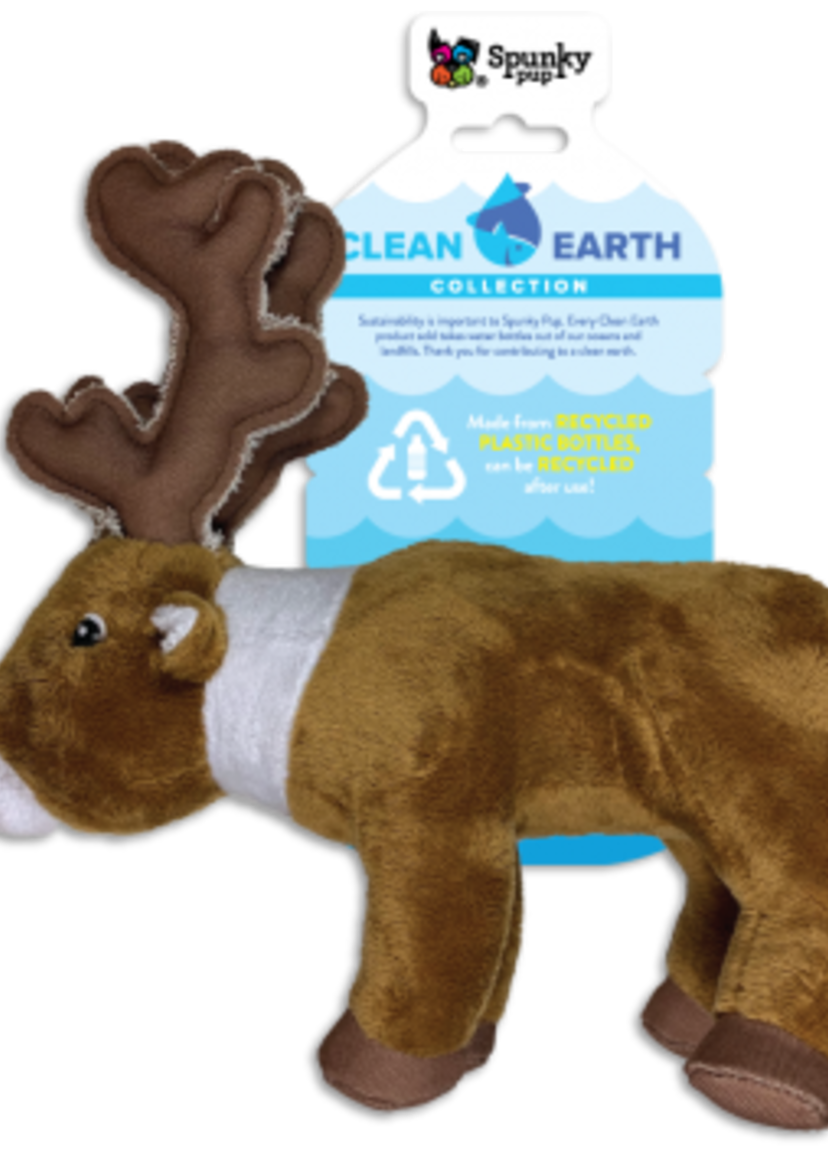 Spunky Pup Spunky Pup Recycled Plush Caribou Small