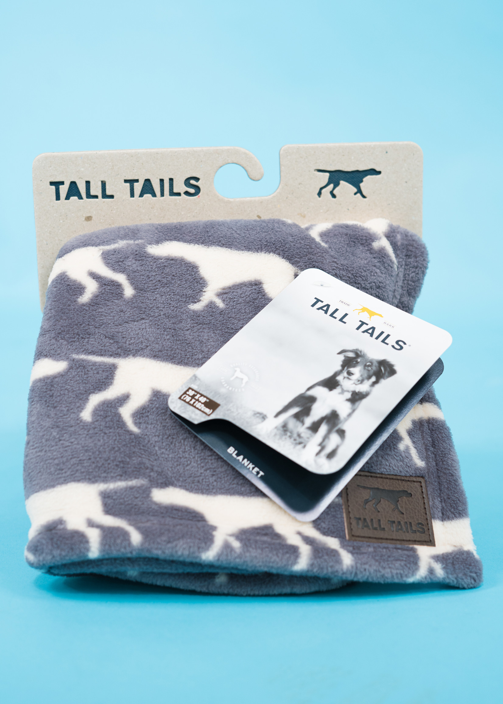 """Tall Tails Tall Tails Blanket Charcoal Icon 30"""" x 40"""""""
