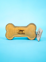 """Tall Tails Tall Tails Leather &  Wool Bone Toy 6"""""""