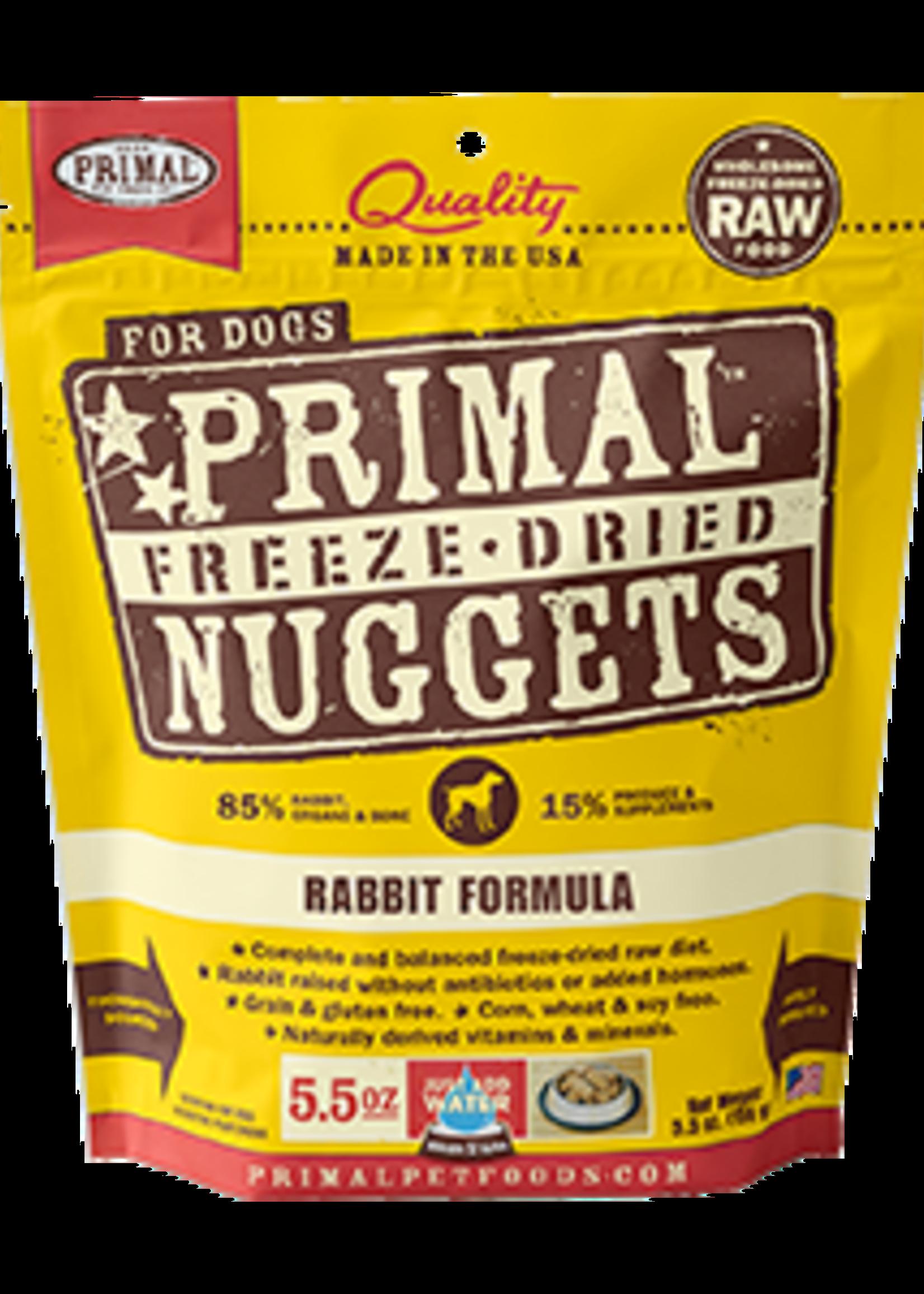 Primal Primal Dog Freeze Dried Rabbit  Nugget 14 oz.