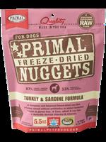 Primal Primal Dog Freeze Dried Turkey & Sardine  Nugget 14 oz.