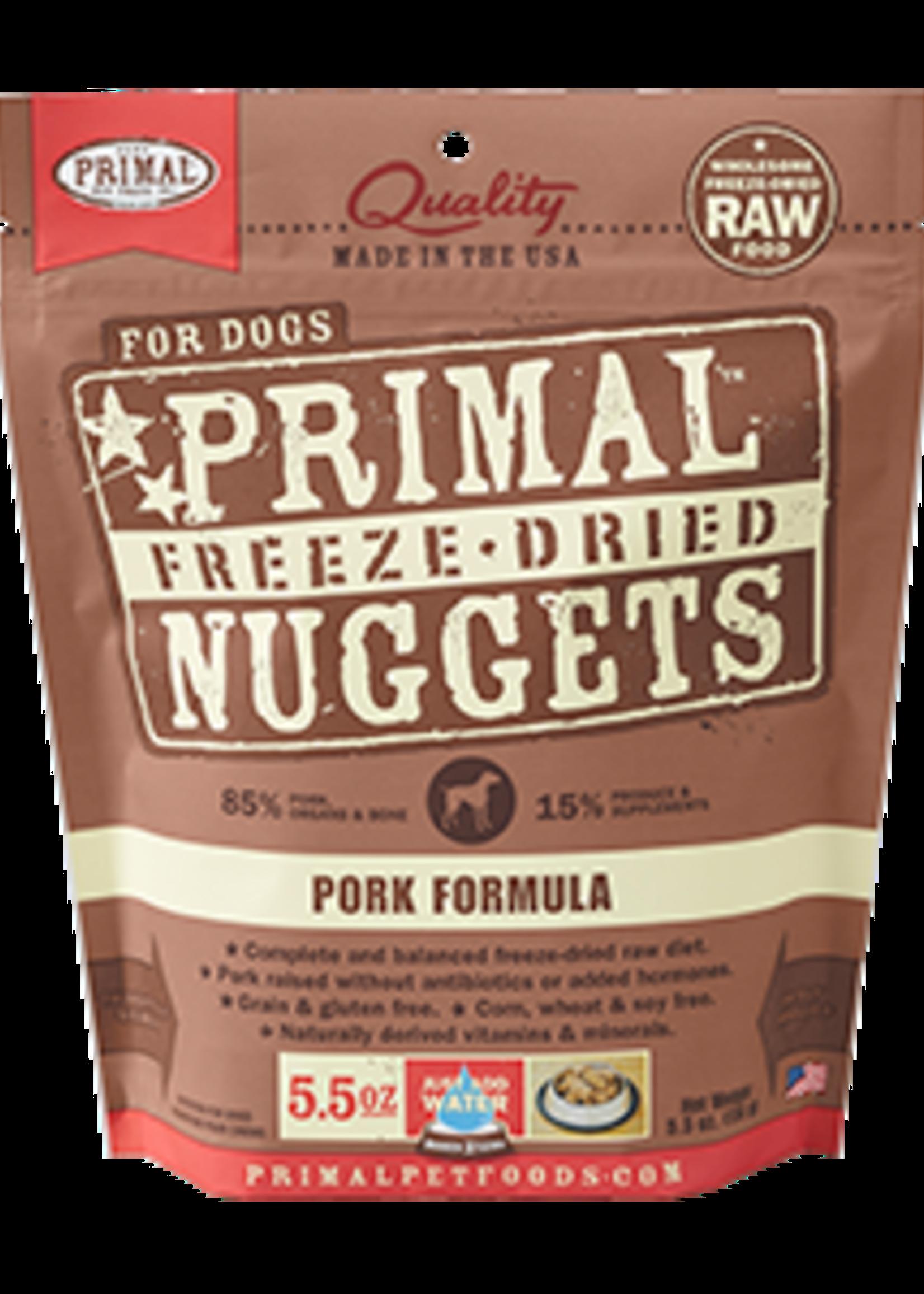 Primal Primal Dog Freeze Dried Pork  Nugget 14 oz.