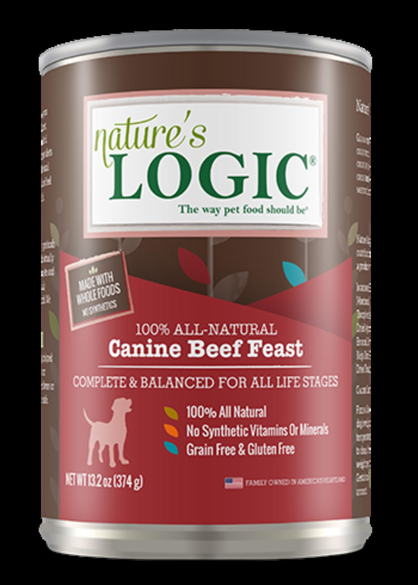 Nature's Logic Nature's Logic Beef Wet Dog Food 13.2oz Case
