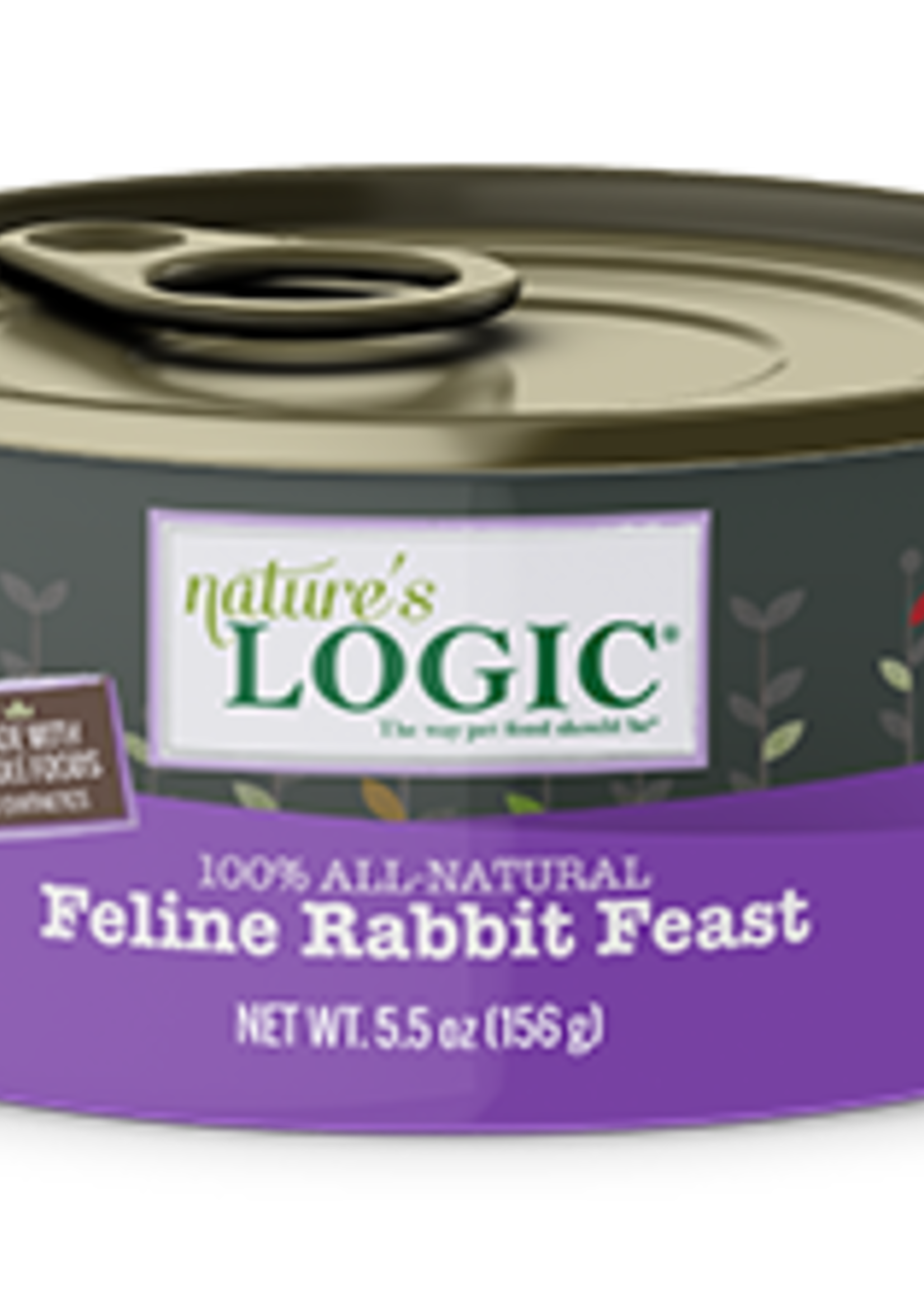Nature's Logic Nature's Logic Rabbit Wet Cat Food Case 5.5oz