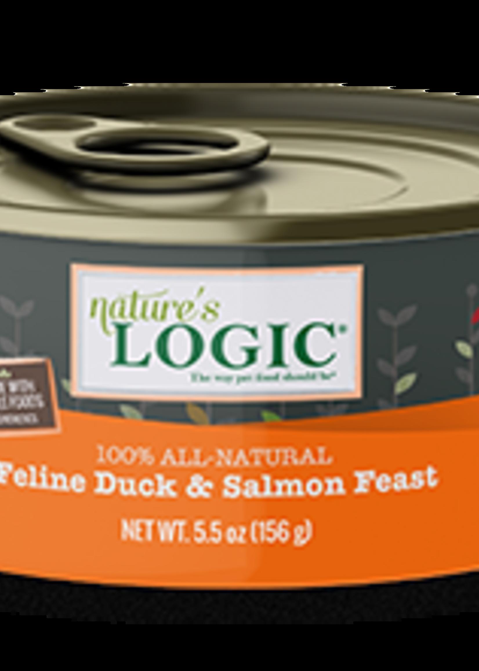 Nature's Logic Nature's Logic Duck & Salmon Wet Cat Food Case 5.5oz