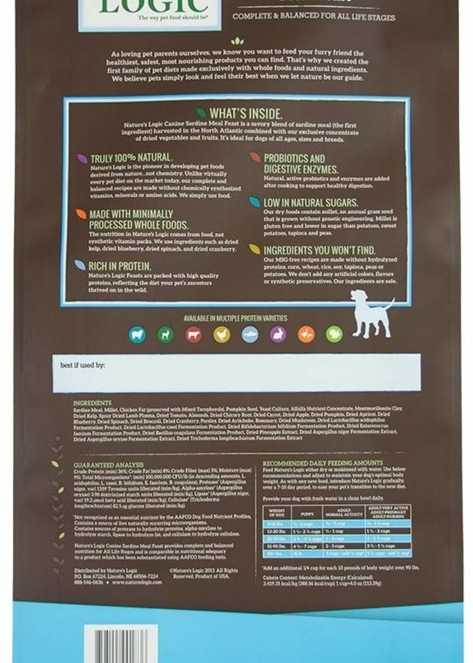 Nature's Logic Nature's Logic Sardine Meal Feast Dry Dog Food 25lbs