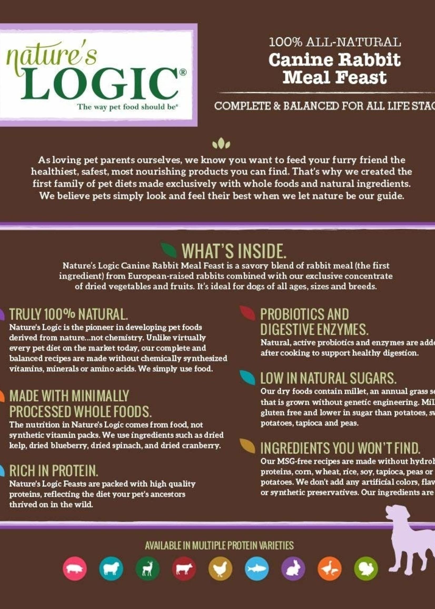 Nature's Logic Nature's Logic Rabbit Meal Feast Dry Dog Food 4.4lbs