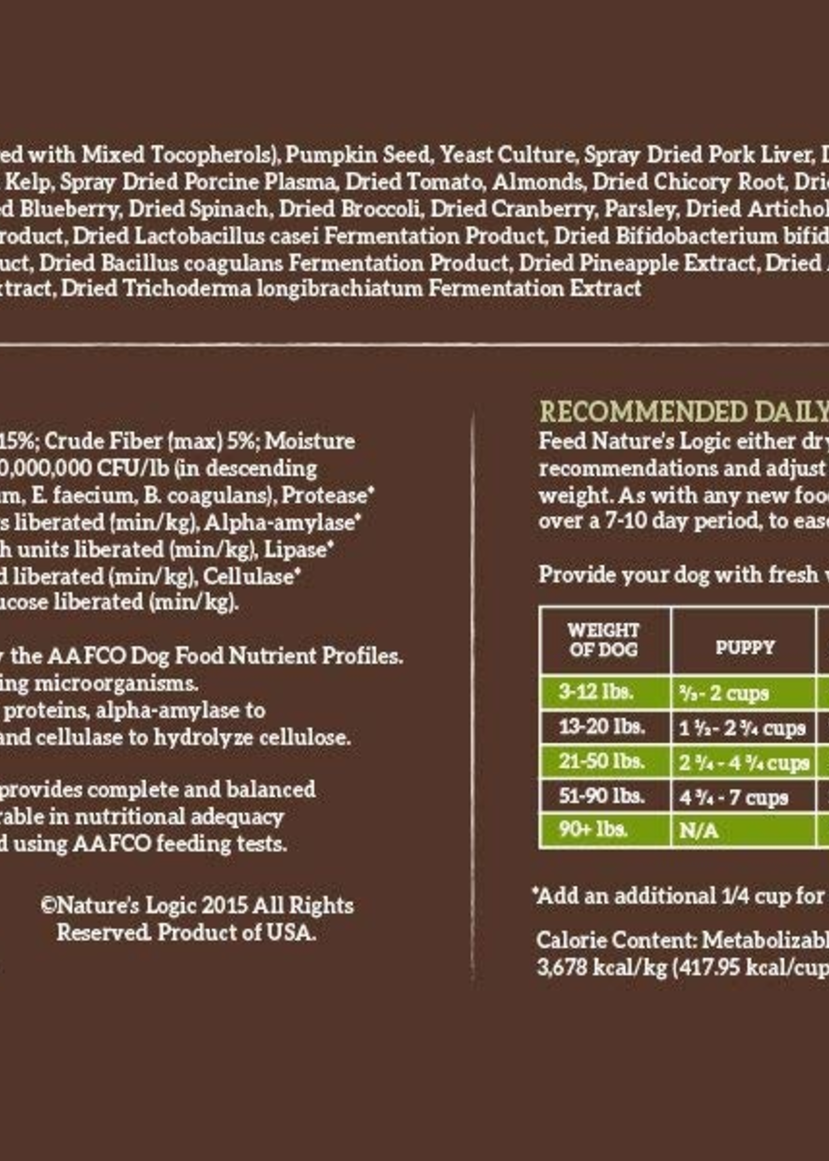 Nature's Logic Nature's Logic Turkey Meal Feast Dry Dog Food 13lbs