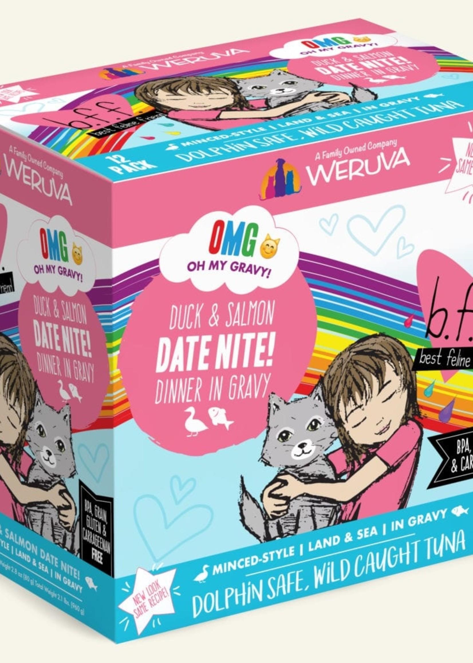 Weruva B.F.F. OMG Date Nite! Wet Cat Food 2.8oz Case