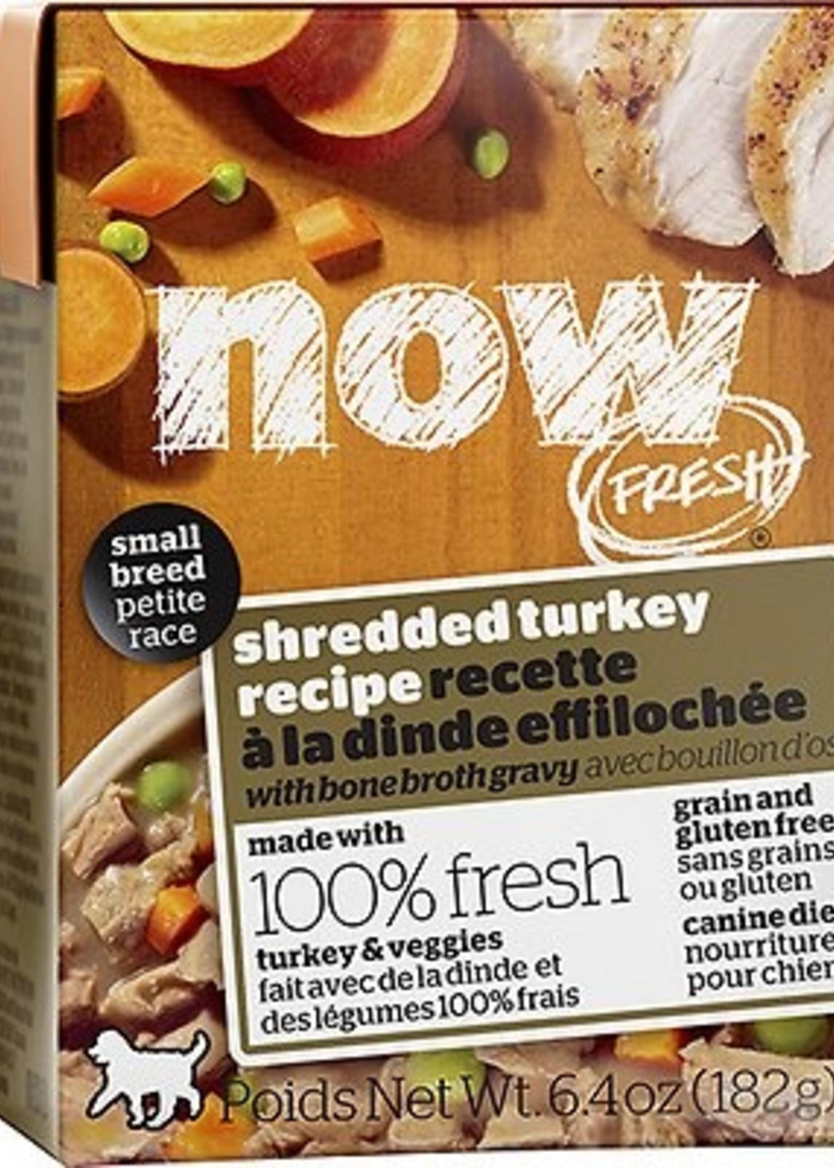 Petcurean Now! Small Breed Shredded Turkey  6.4 oz
