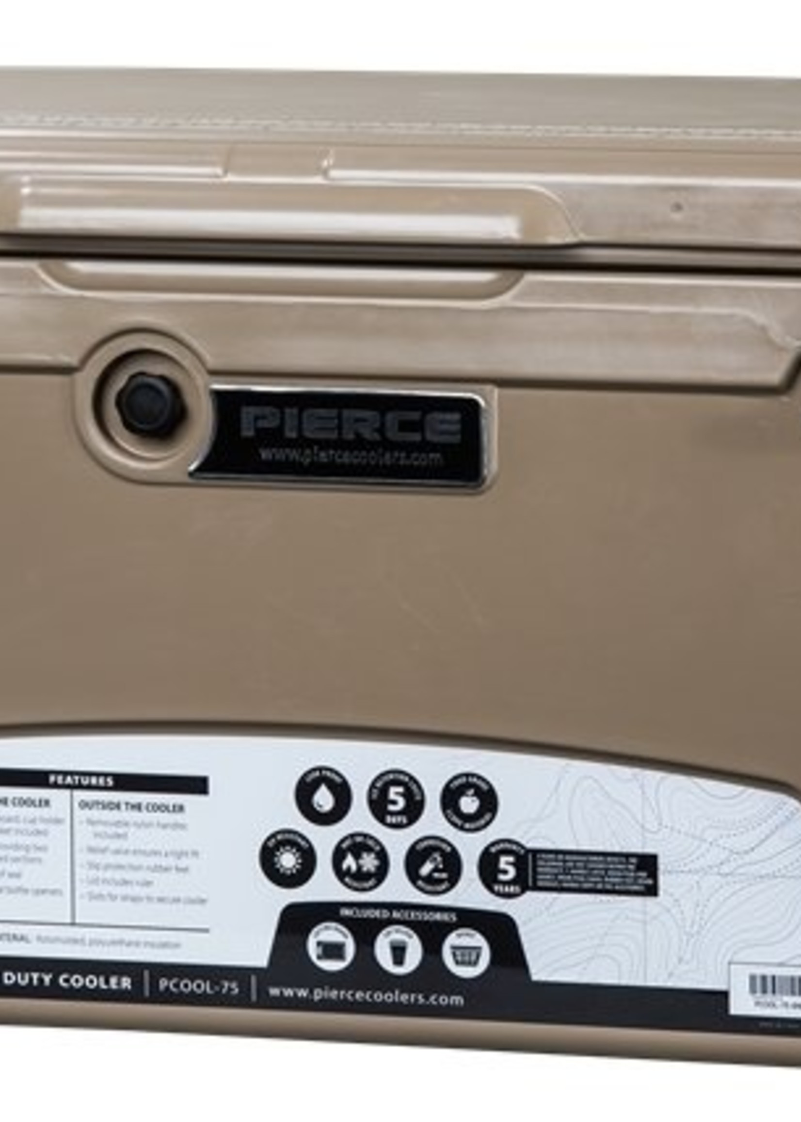 Pierce Arrow Cooler 75qt Sand