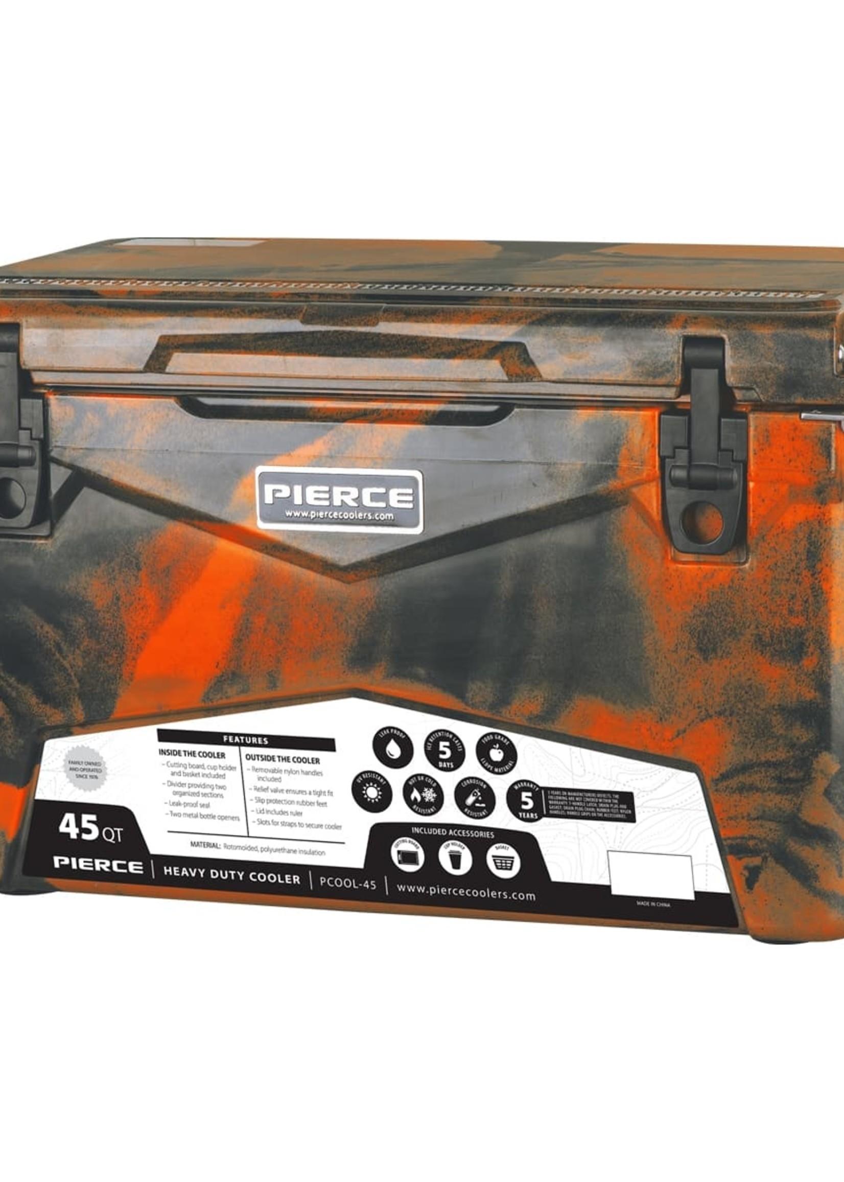 Pierce Arrow Cooler 45qt Orange Camo
