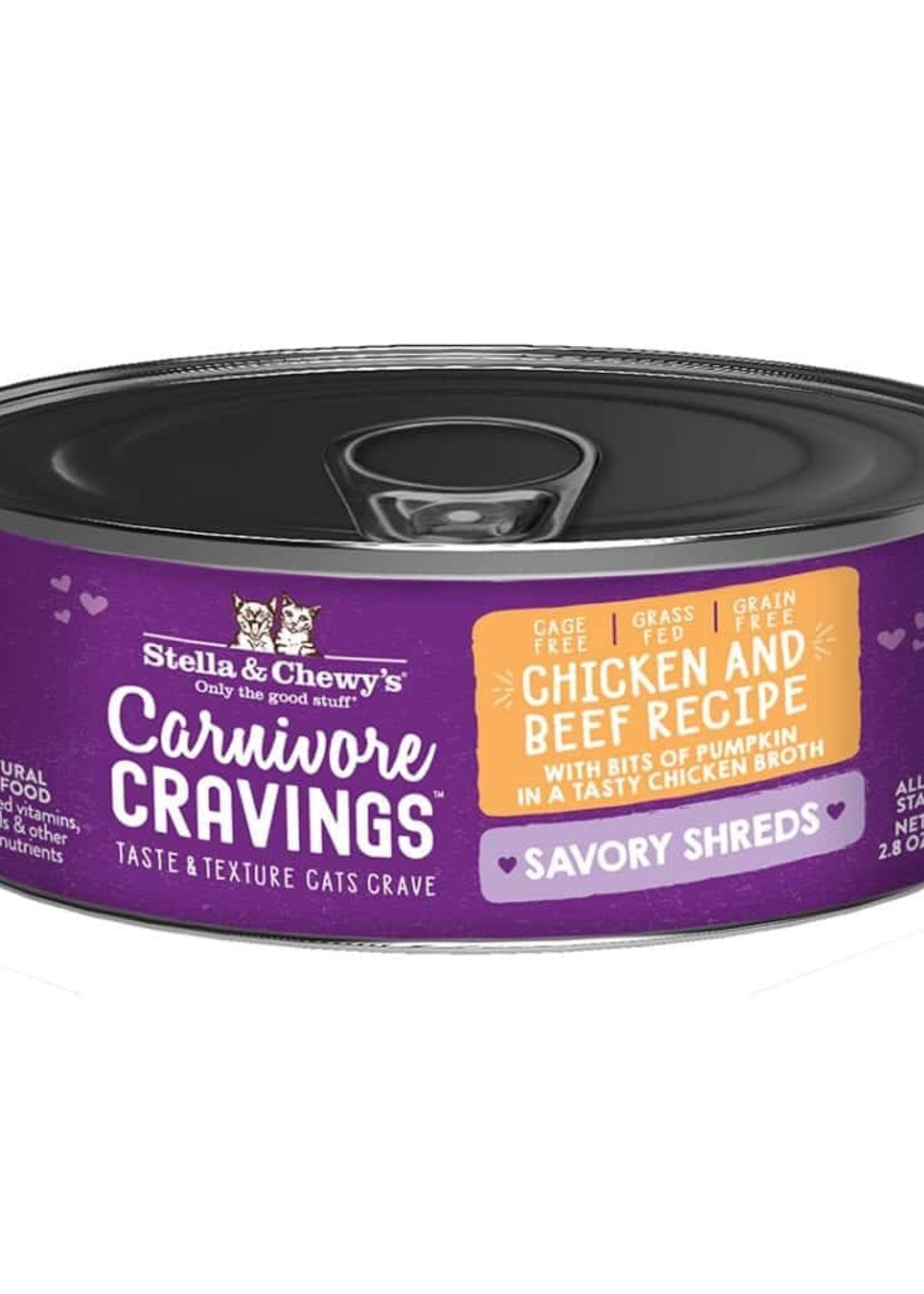 Stella & Chewy's Stella & Chewy's Shreds Chicken & Beef 8/2.8 oz Case