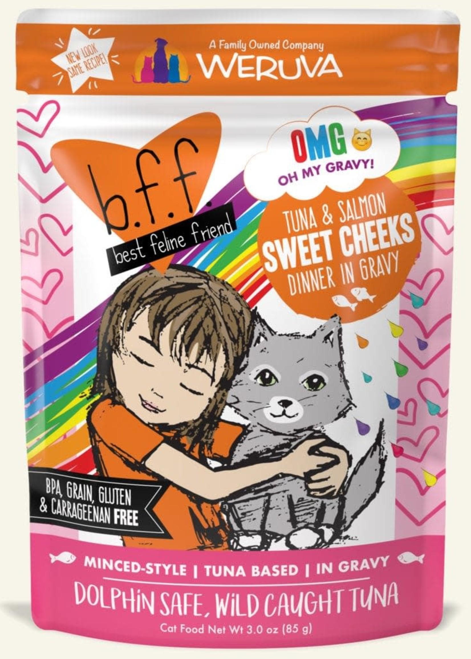 Weruva B.F.F. OMG Sweet Cheeks Tuna & Salmon Wet Cat Food 3oz Pouch