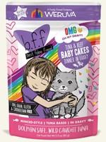 Weruva B.F.F. OMG Baby Cakes Tuna & Beef in Gravy Wet Cat Food 3oz Pouch