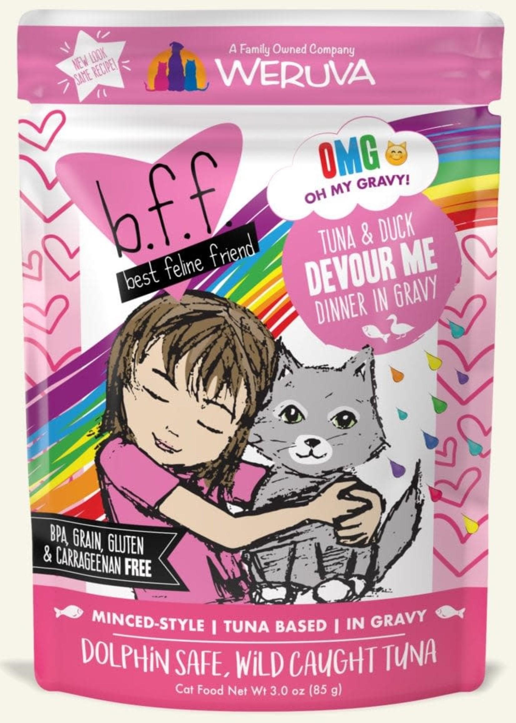 Weruva B.F.F. OMG Devour Me Wet Cat Food 3oz Pouch
