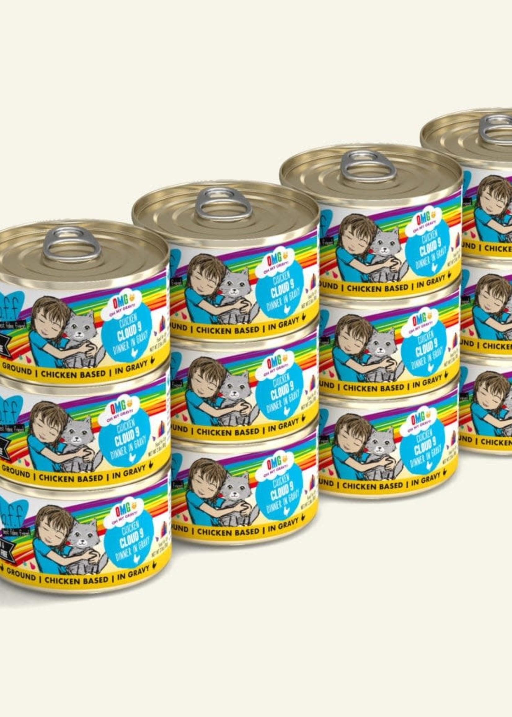 Weruva B.F.F. OMG Cloud 9! Chicken in Gravy Wet Cat Food 2.8oz Case
