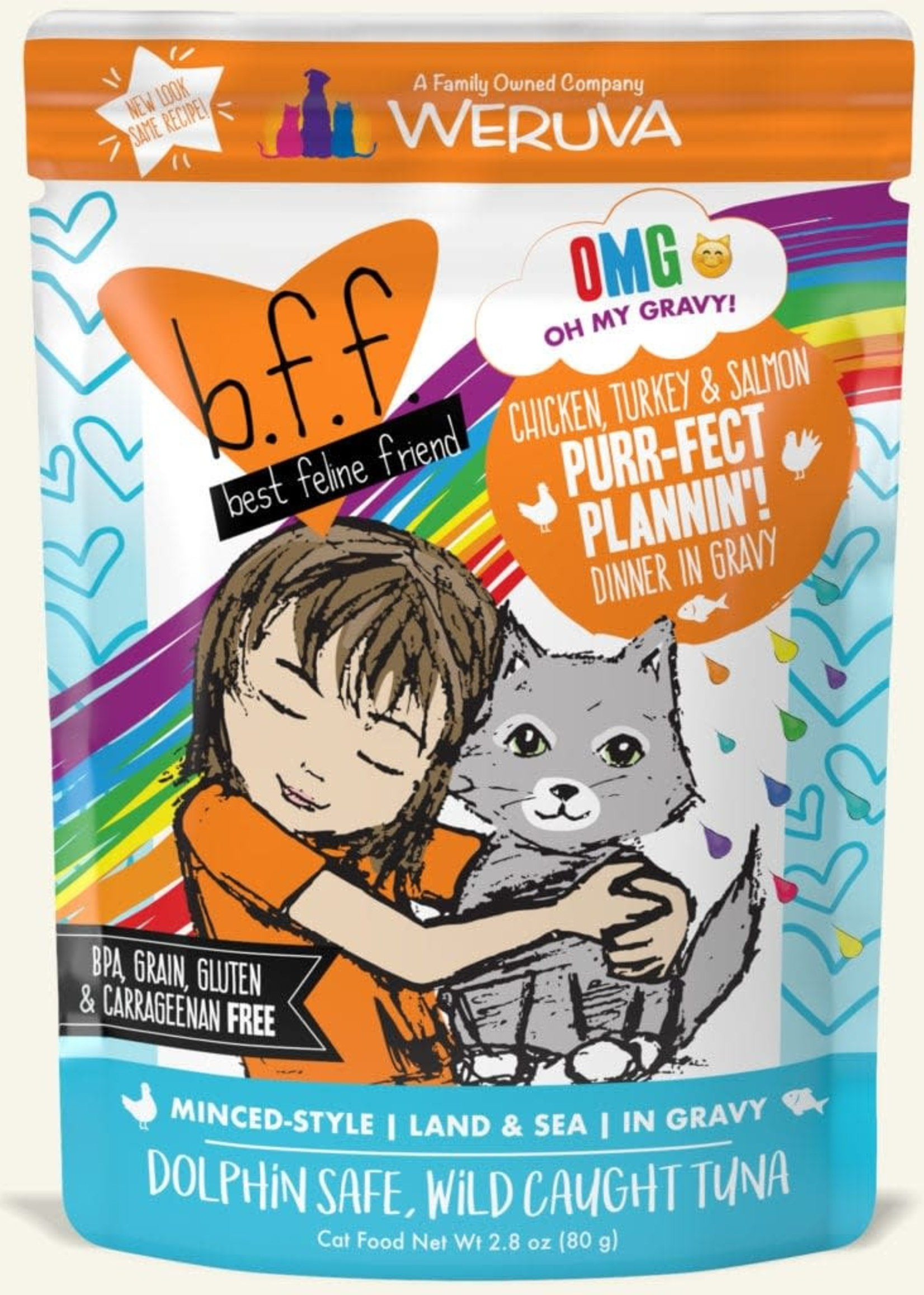 Weruva B.F.F. OMG Purr-Fect Plannin'! Wet Cat Food 2.8oz Case