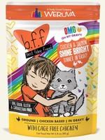 Weruva B.F.F. OMG Shine Bright Chicken & Salmon Wet Cat Food 2.8oz Pouch