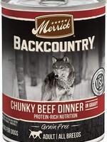 Merrick Backcountry Chunky Beef 12.7 oz.