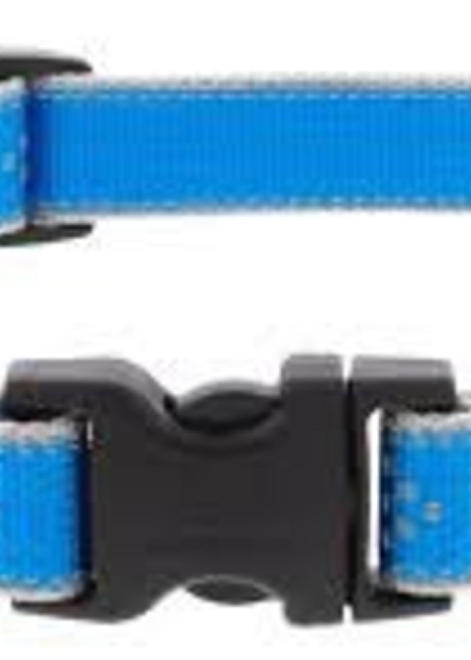 LupinePet Lupine 3/4in Blue Diamond Reflective 12-20 Adj Collar
