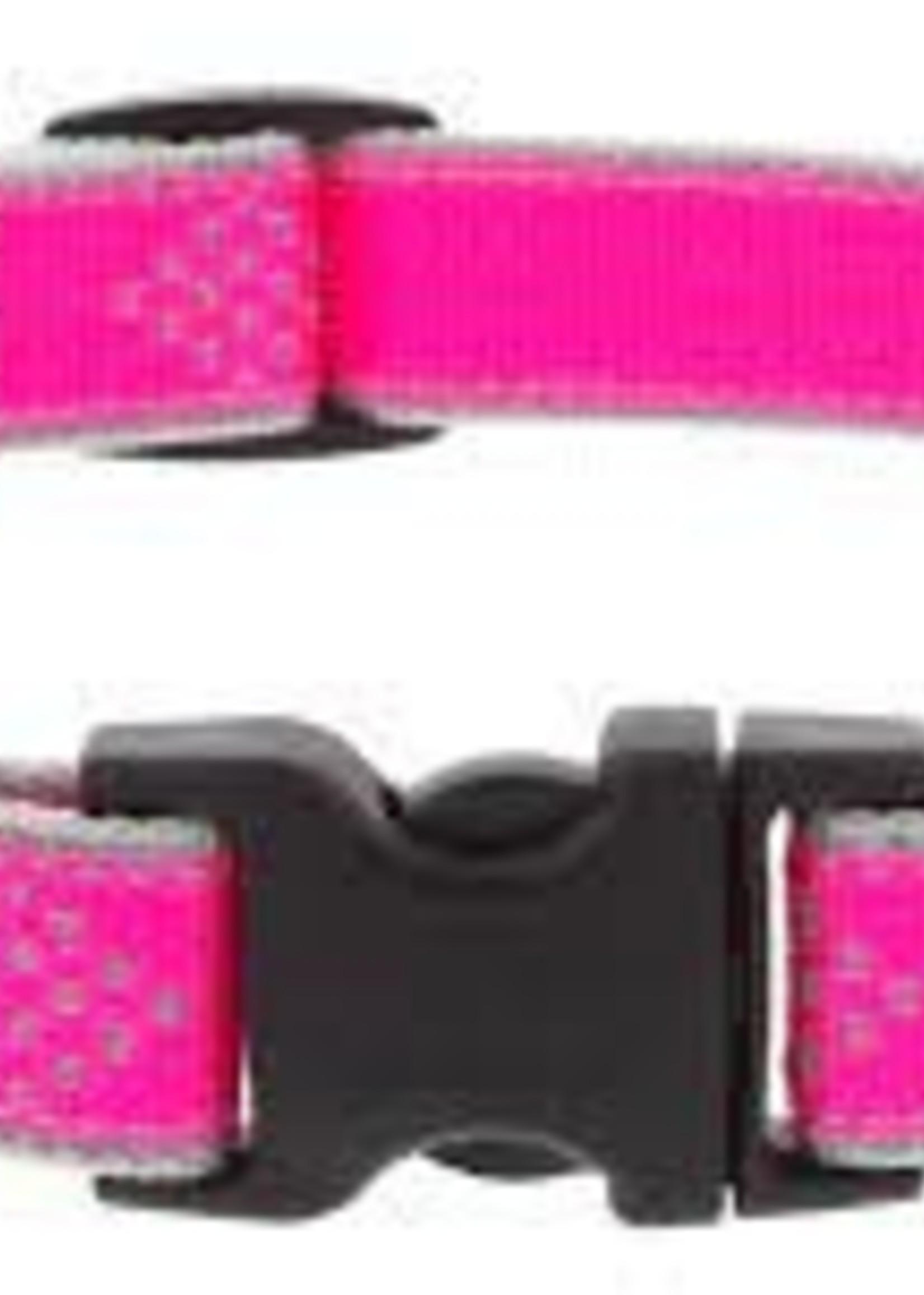 LupinePet Lupine 1/2in Pink Diamond Reflective 8-12 Adj Collar