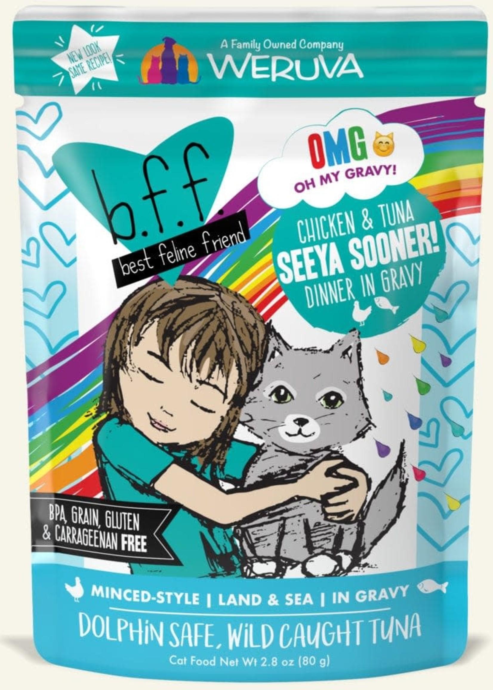 Weruva B.F.F. OMG Seeya Sooner!  Wet Cat Food 2.8oz Pouch