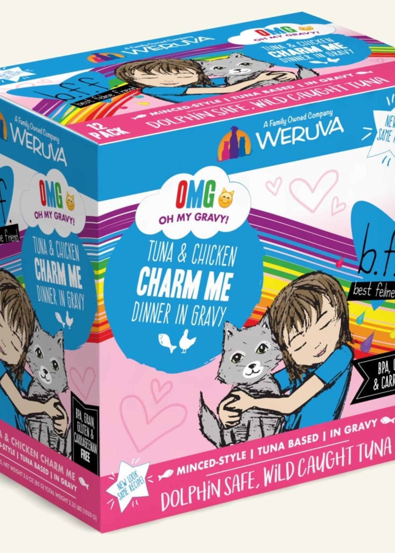 Weruva B.F.F. OMG Charm Me Wet Cat Food 3oz Pouch 12 Pack