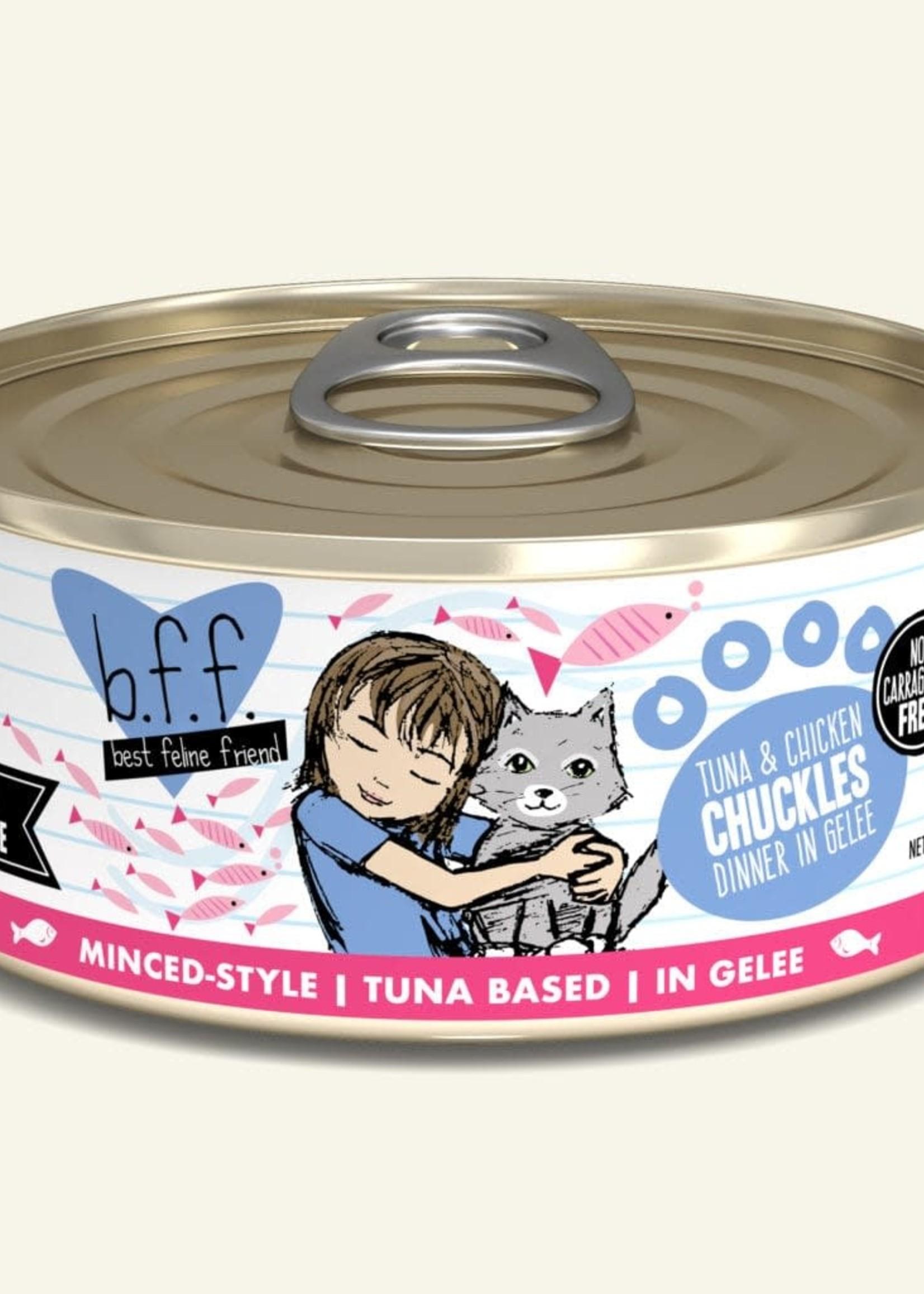 Weruva B.F.F. Tuna & Chicken Chuckles in Gelée Cat 5.5oz Can (Pack of 24)