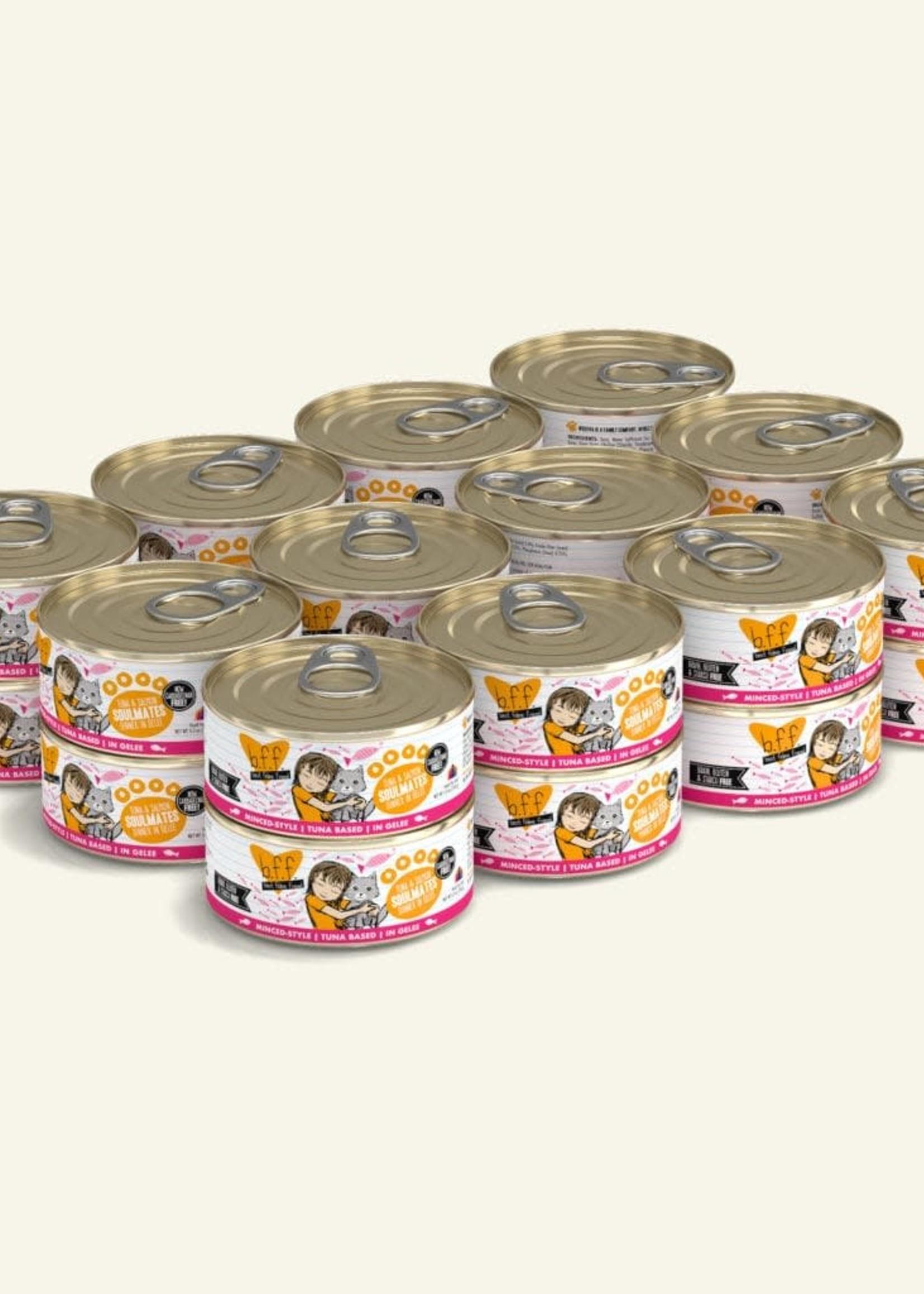 Weruva B.F.F. Tuna & Salmon Soulmates  in Gelée 5.5oz Can Wet Cat Food (Pack of 24)