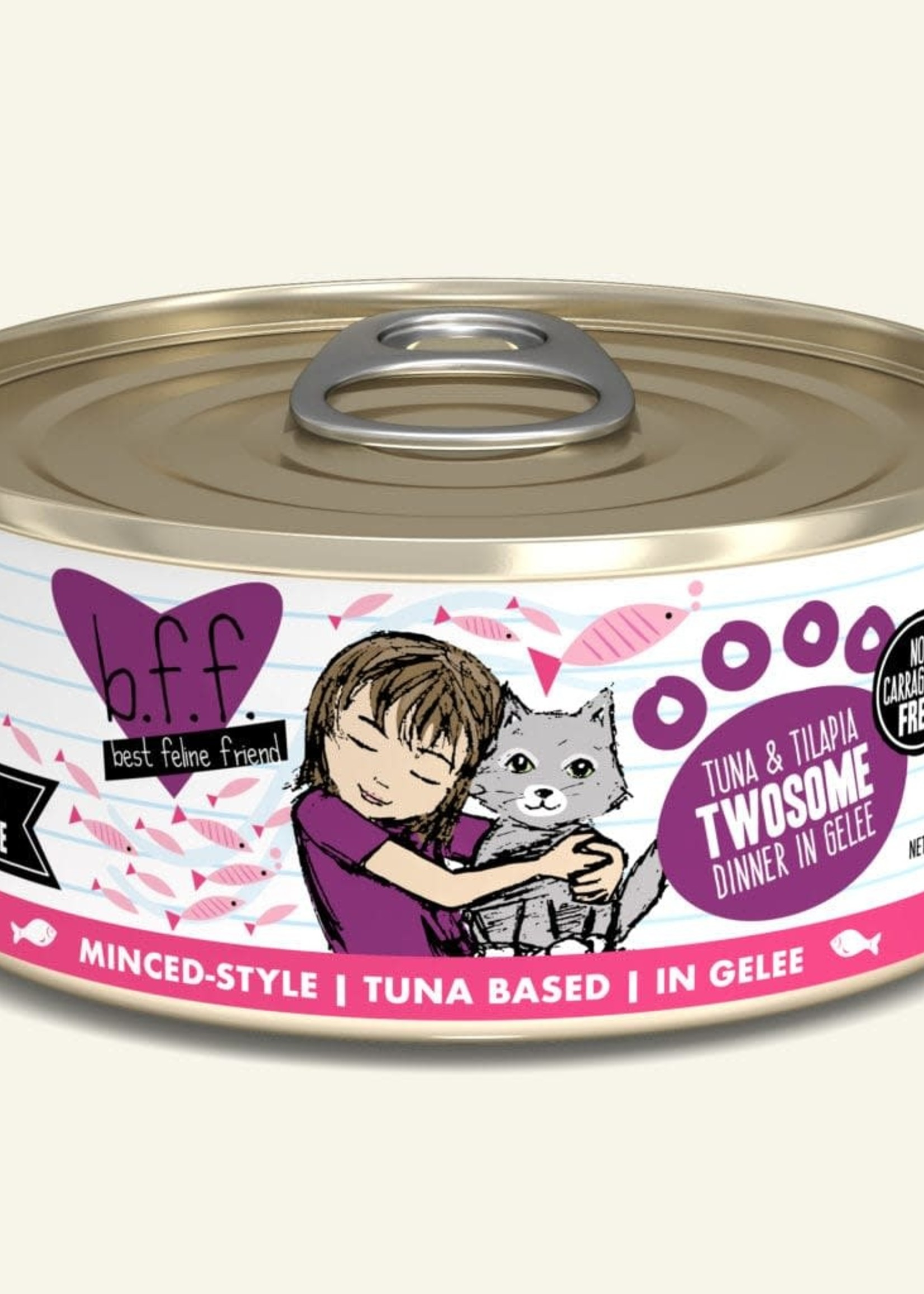 Weruva B.F.F. Tuna & Tilapia Twosome 5.5oz Can Wet Cat Food (Pack of 24)