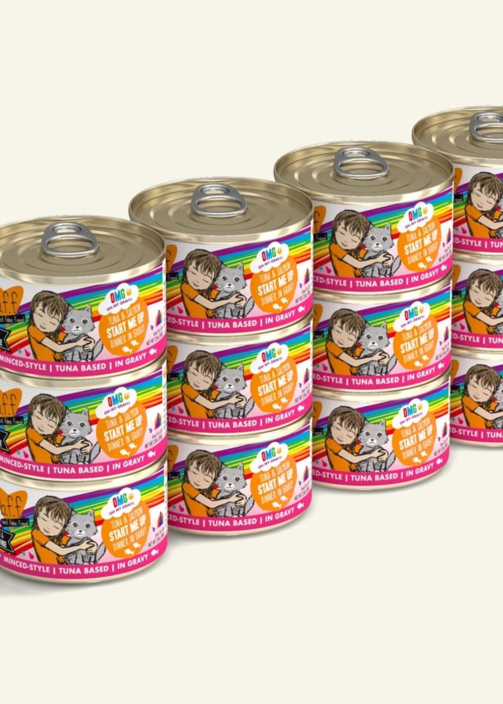 Weruva B.F.F. OMG Start Me Up Tuna & Salmon in Gravy Wet Cat Food 2.8oz Case