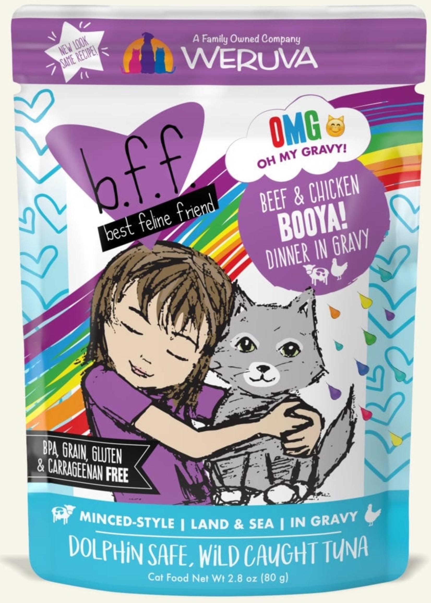 Weruva B.F.F. OMG Booya! Wet Cat Food 2.8oz Pouch